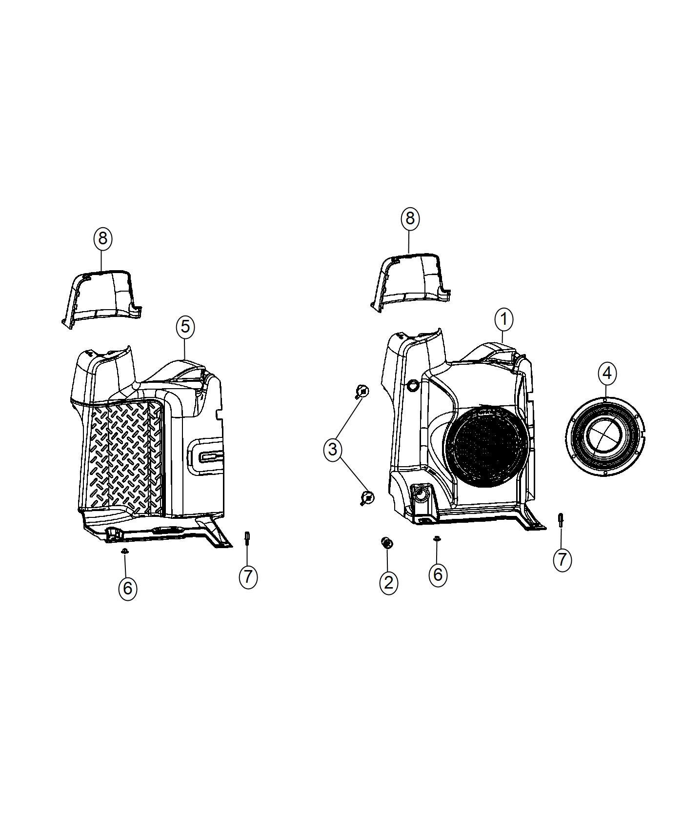 2016 jeep wrangler stud  1 end  m6x1 00x22 00  trim