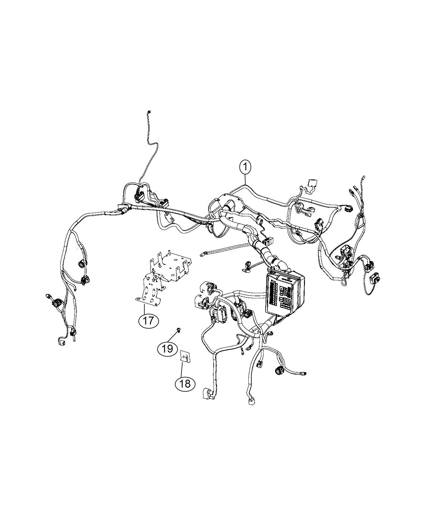 Fiat 500c Wiring  Headlamp To Dash  Speakers  Marked