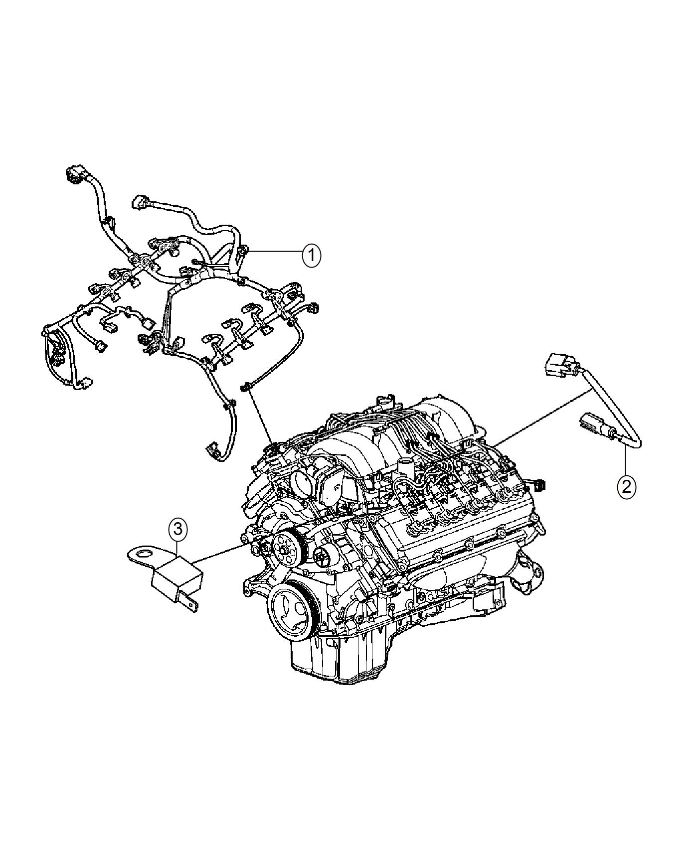 2016 Dodge Challenger Wiring  Engine