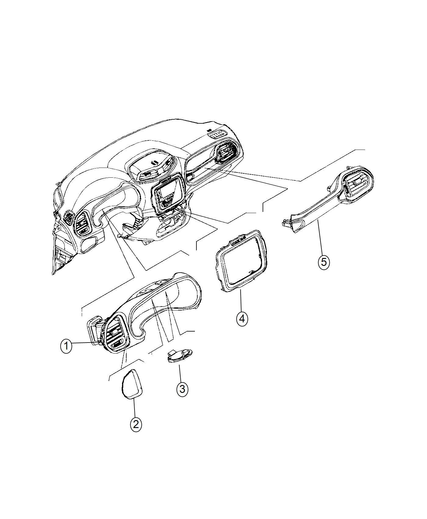 2016 jeep renegade bezel  instrument cluster  trim   no description available  color   black