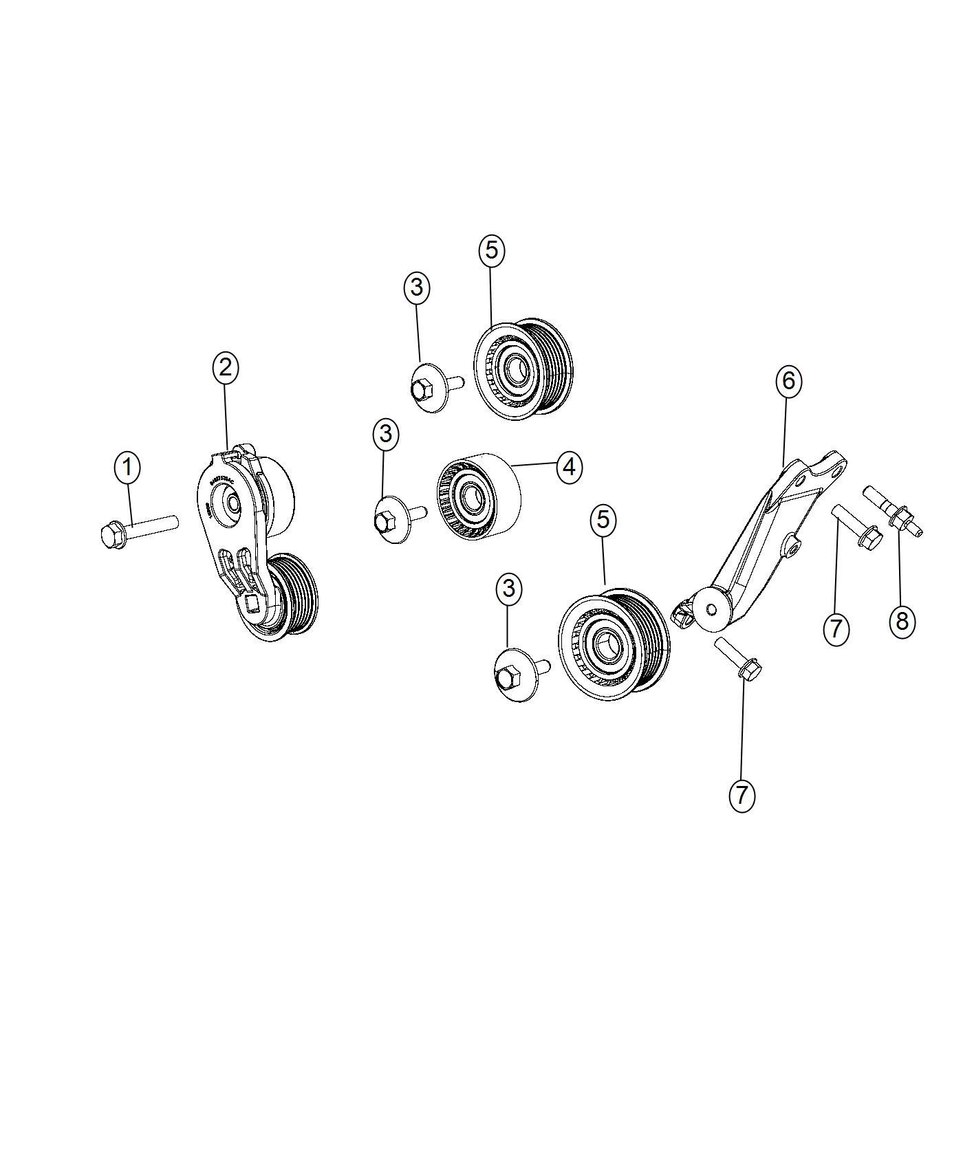 Chrysler Pacifica Bracket  Idler Pulley