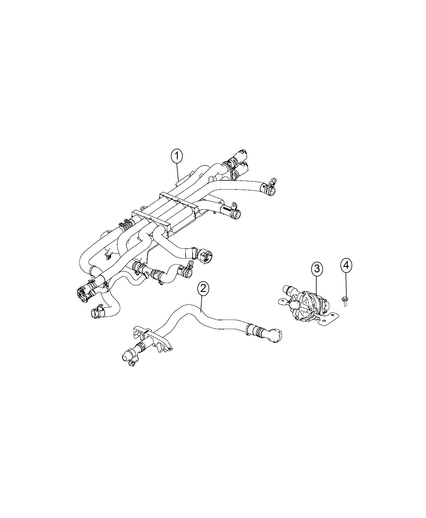 2017 Chrysler Pacifica Pump. Auxiliary Coolant. Battery