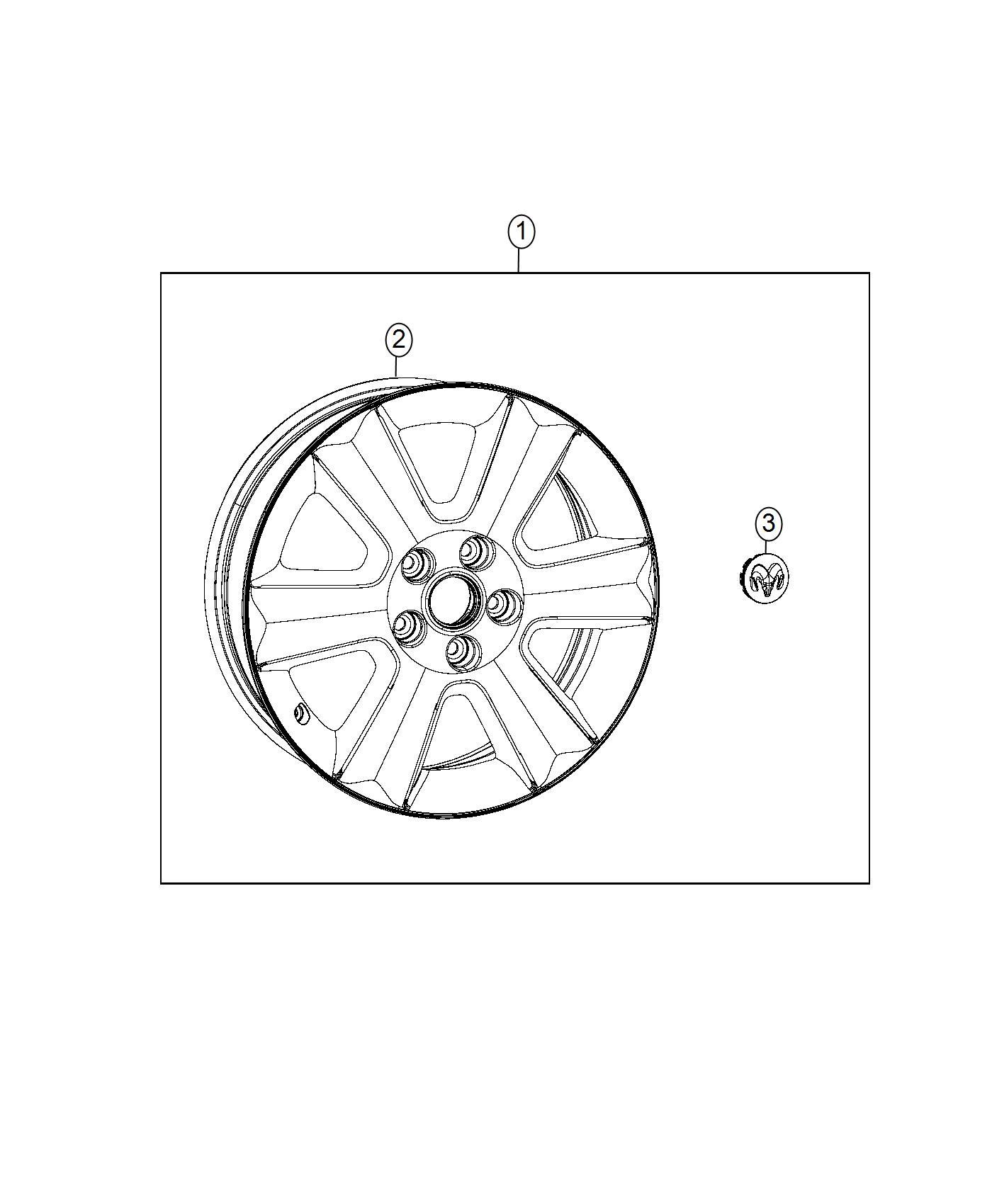 2016 dodge journey wheel  aluminum  front or rear  color   no description available