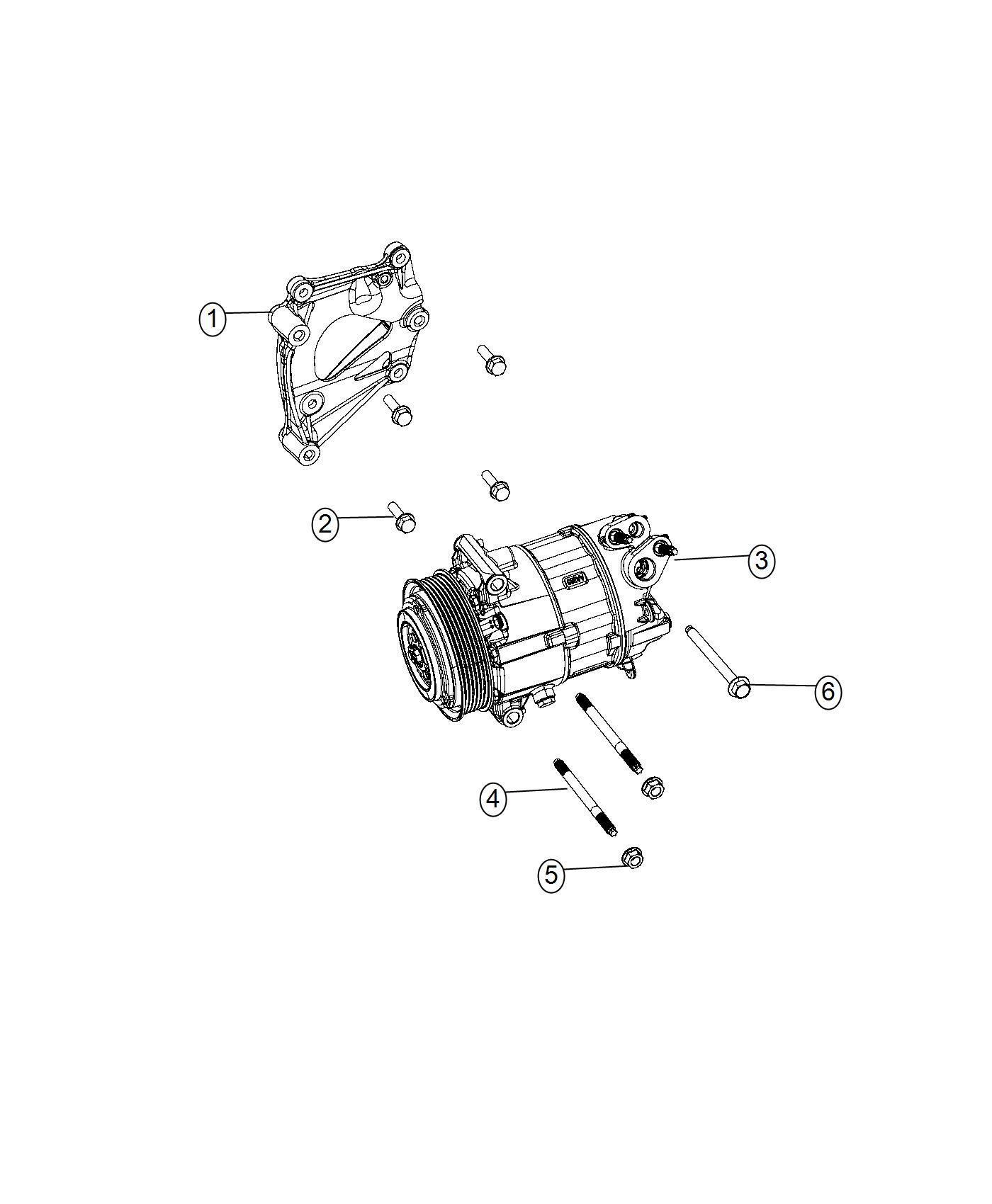 Chrysler Pacifica Bracket  A  C Compressor   Do Not Use