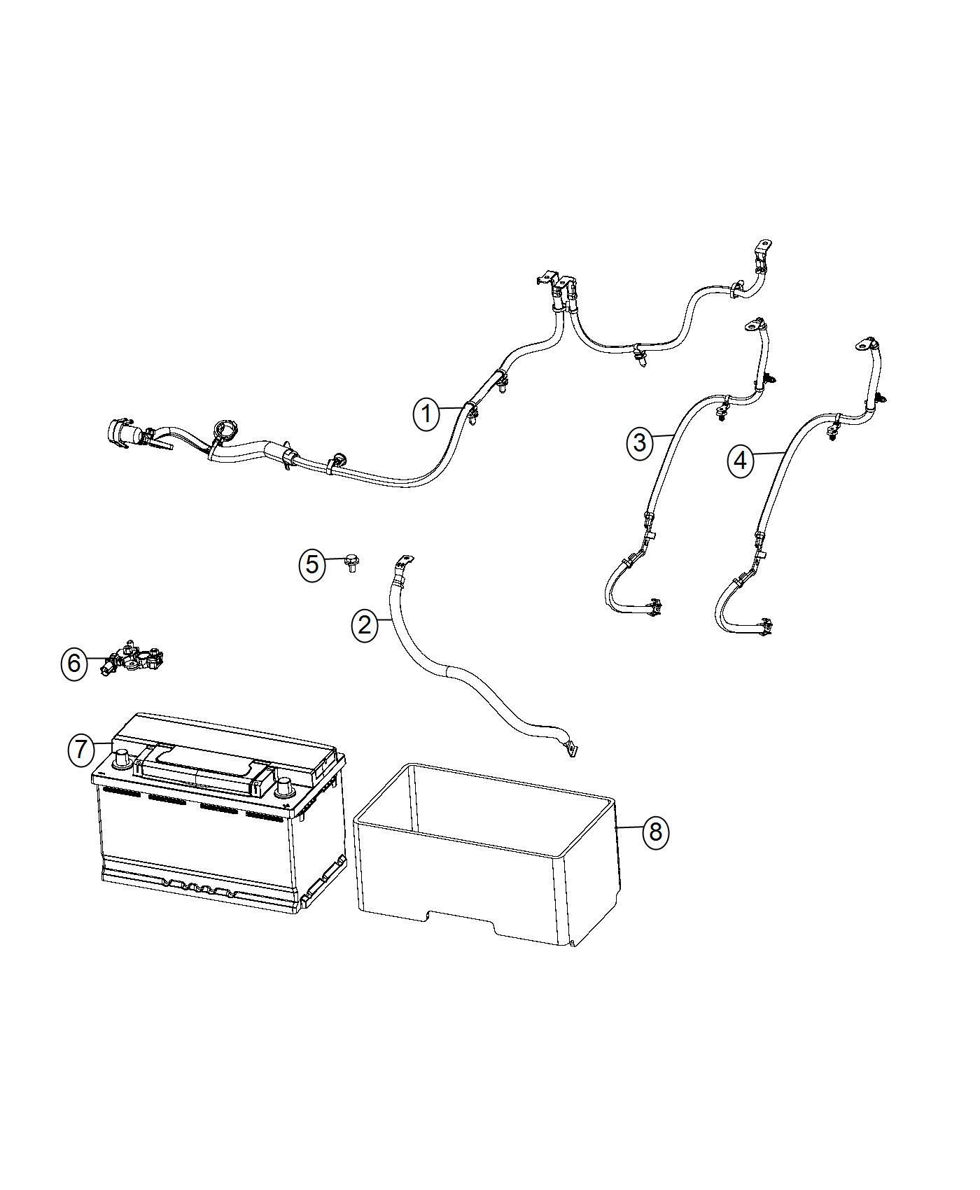 2017 Chrysler Pacifica Sensor  Battery  Wiring  Tray