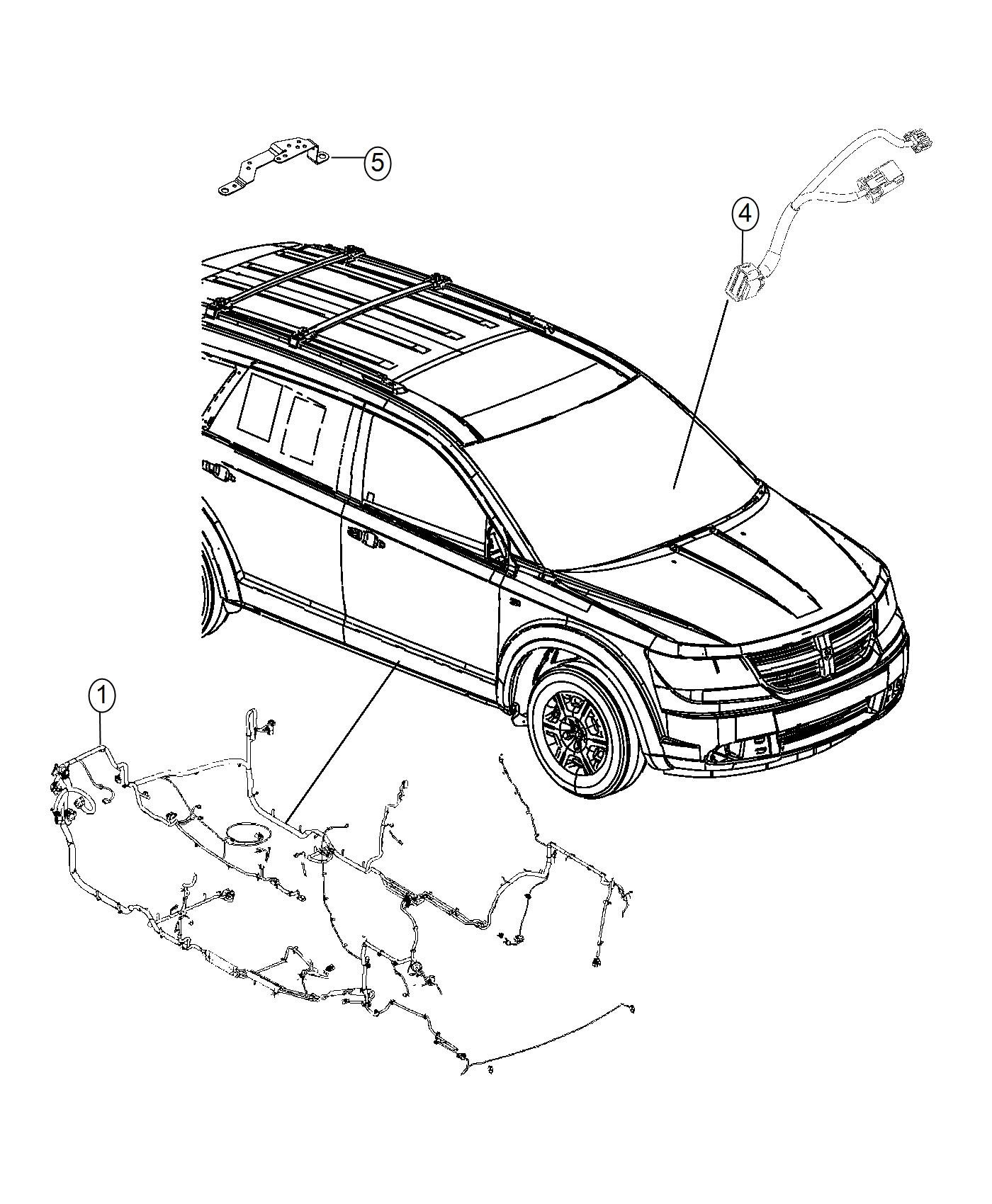 2015 dodge journey wiring  mexico  unified body   jkv