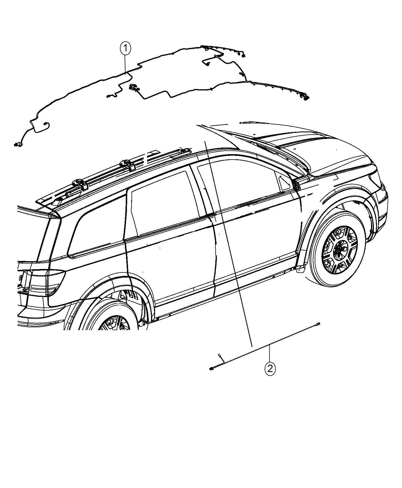 2017 Dodge Journey Wiring  Header  Us  Canada   Rr View