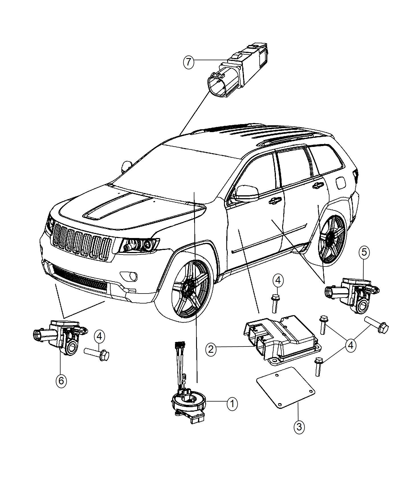 Jeep Grand Cherokee Module  Occupant Restraint  Modules