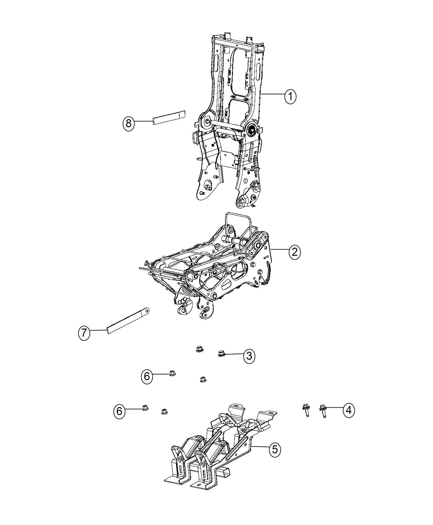 Chrysler PACIFICA L HYBRID Strap. Seat. [seat Parts Module