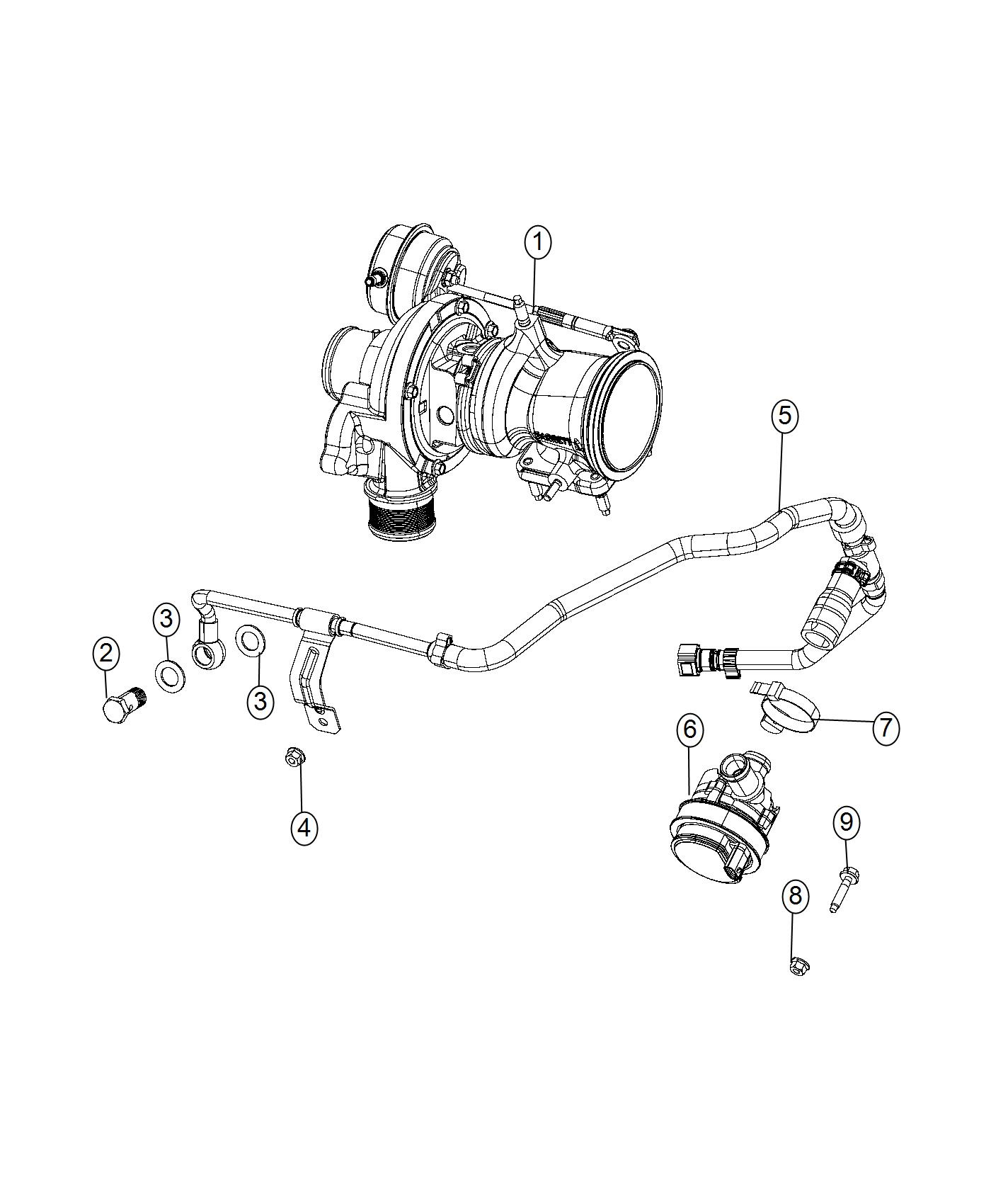 2015 jeep renegade hose  coolant  turbo  cooling