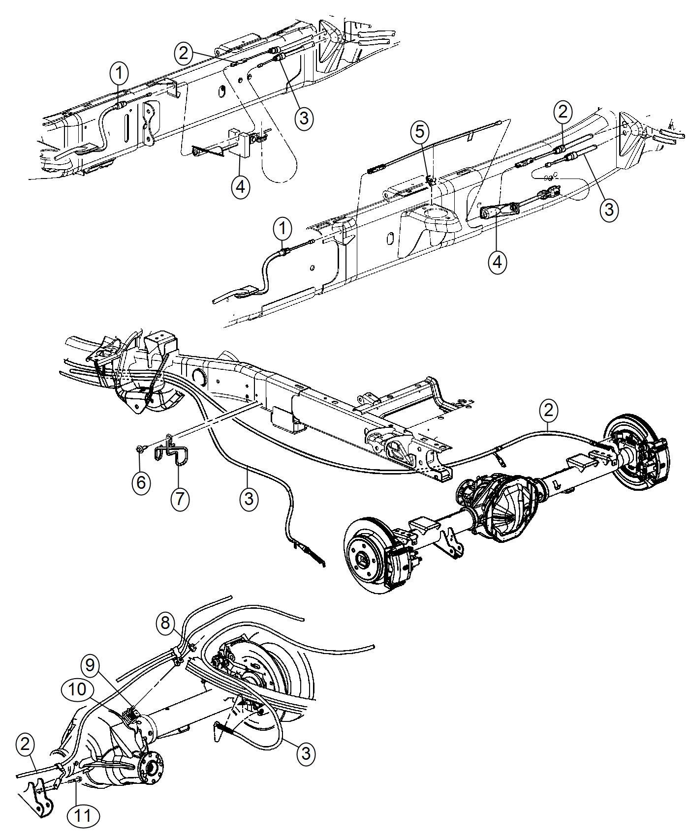 2013 dodge ram 3500 sensor  wheel speed  left  left rear  control  stability  electronic