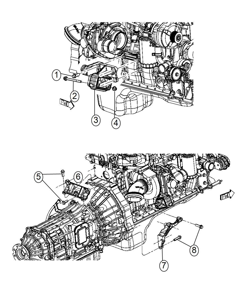 2017 Ram 3500 Bracket  Engine Mount  Right Side   6