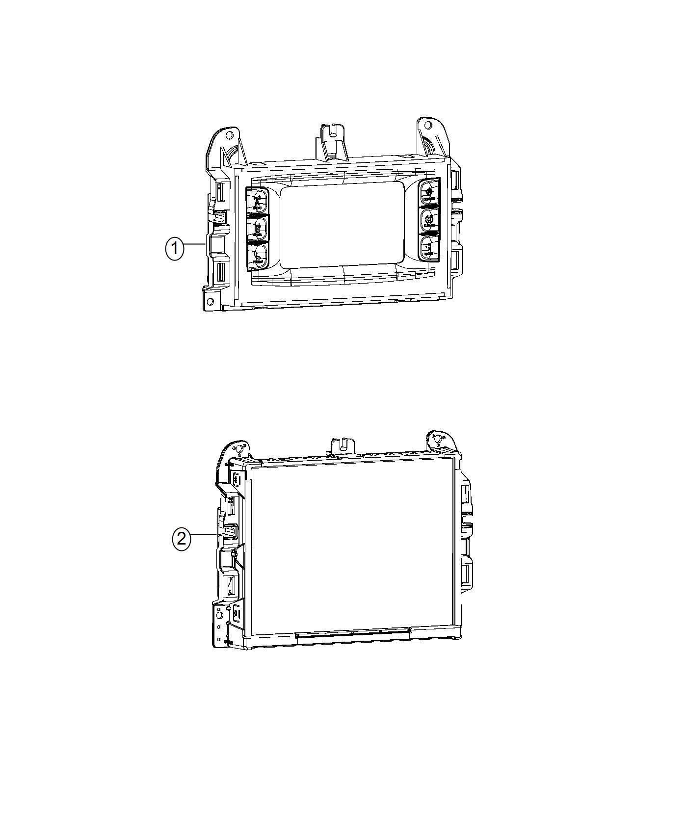 dodge durango radio multi media instrument panel parts. Black Bedroom Furniture Sets. Home Design Ideas
