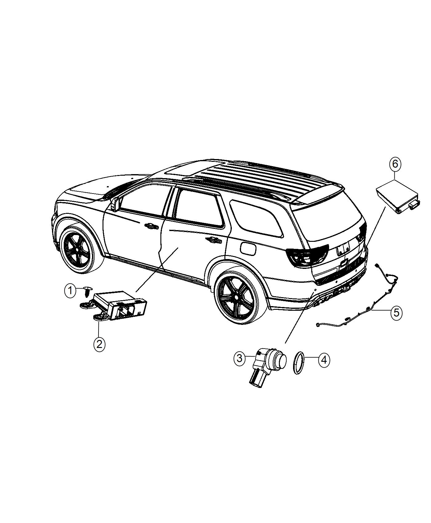2016 jeep grand cherokee wiring  rear fascia  assist  park
