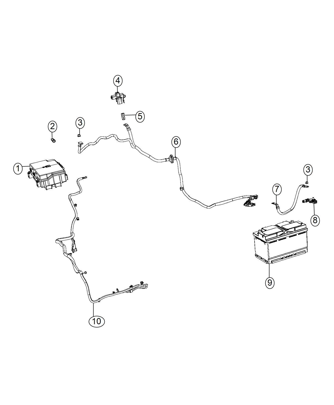 2017 Jeep Grand Cherokee Wiring  Battery Positive  Amp  Alternator  System