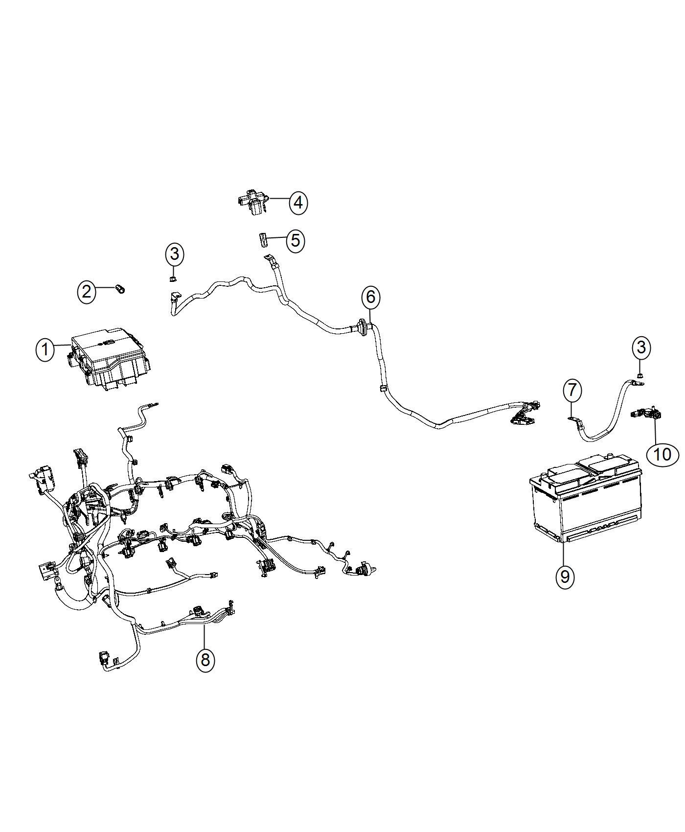 2017 Jeep Grand Cherokee Sensor  Battery  Negative Cable