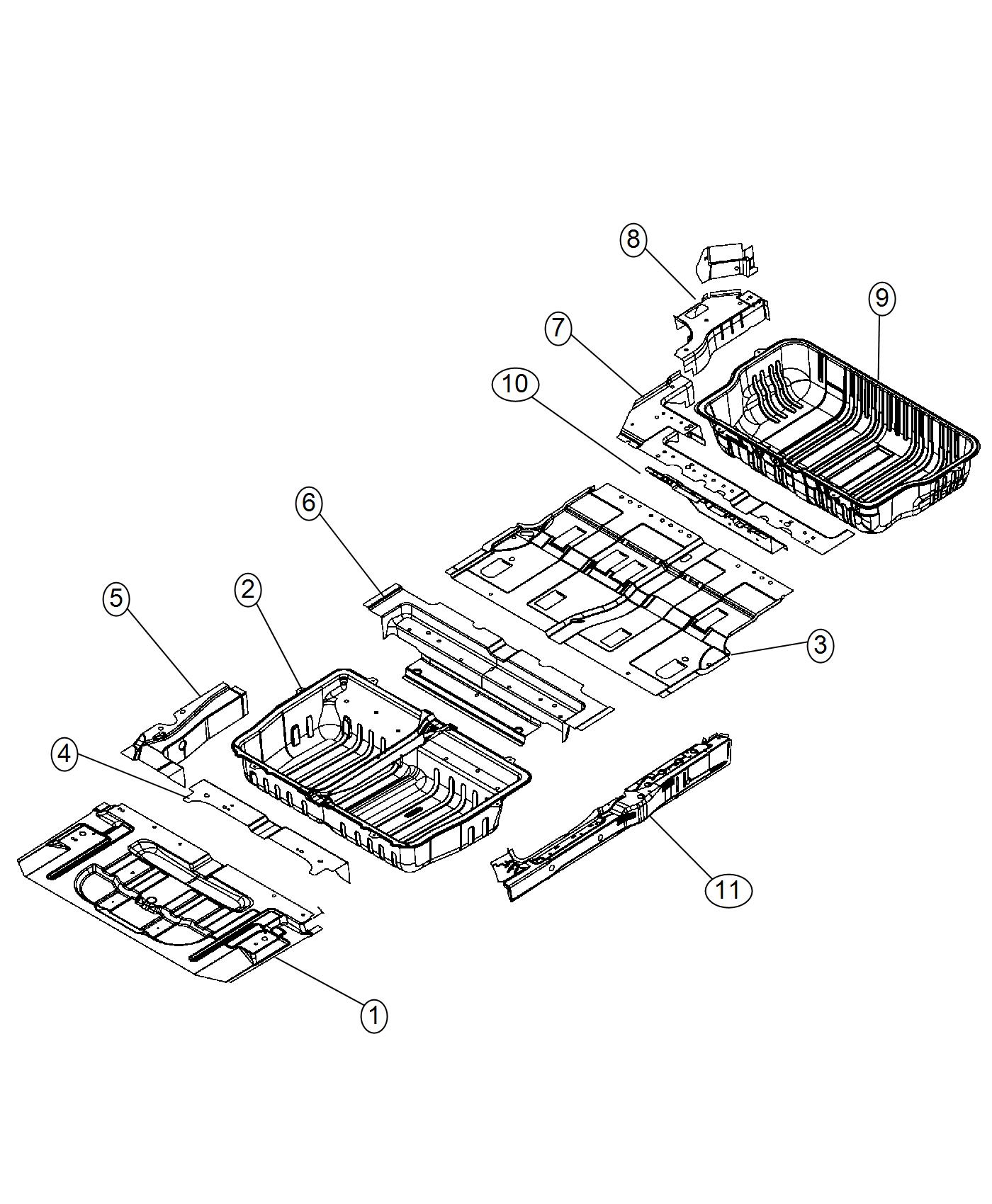 2008 Dodge Grand Caravan Panel Left Sill Inner Body Wiring Diagram