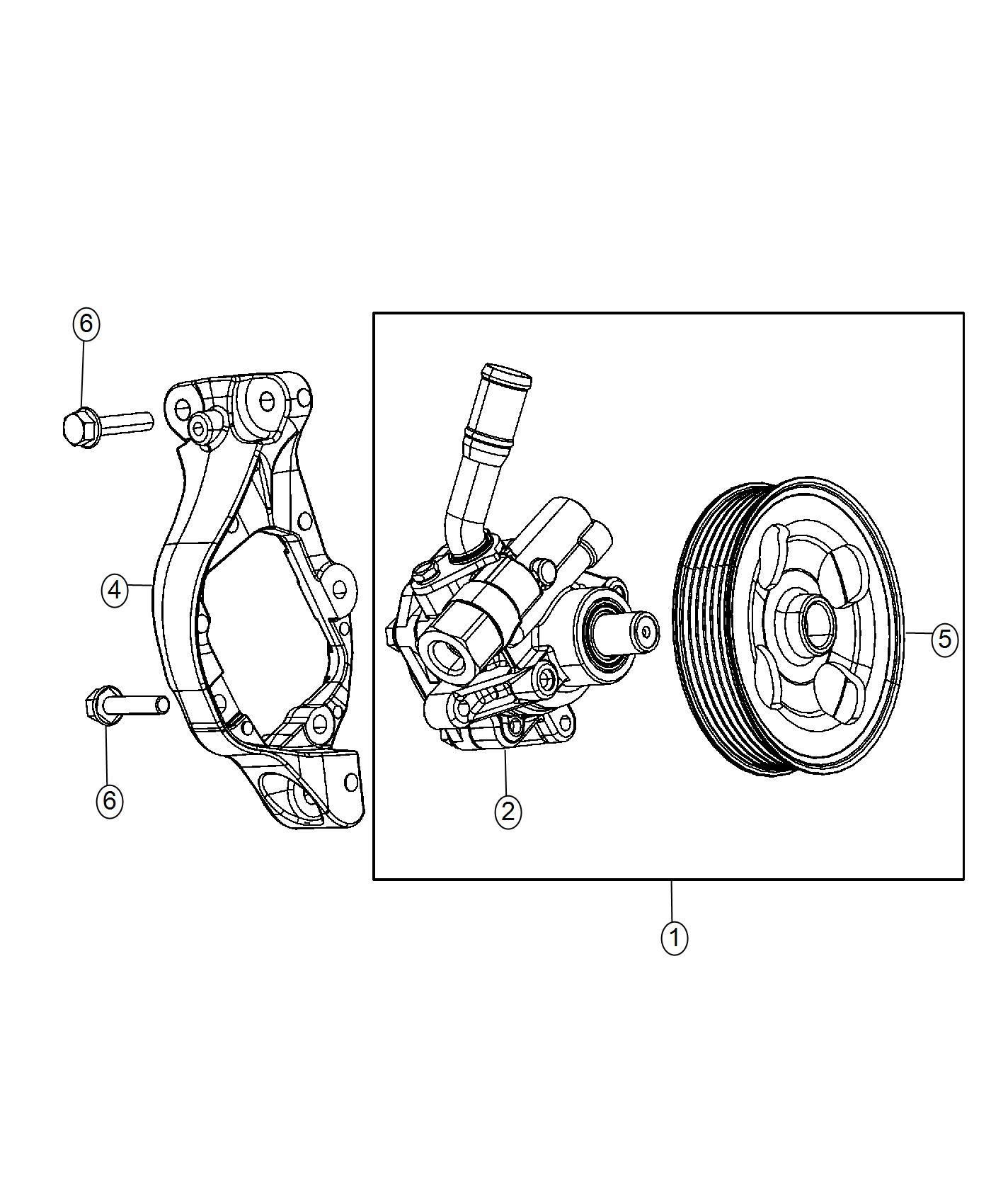2017 jeep wrangler pulley  power steering pump  module  complete  chassis
