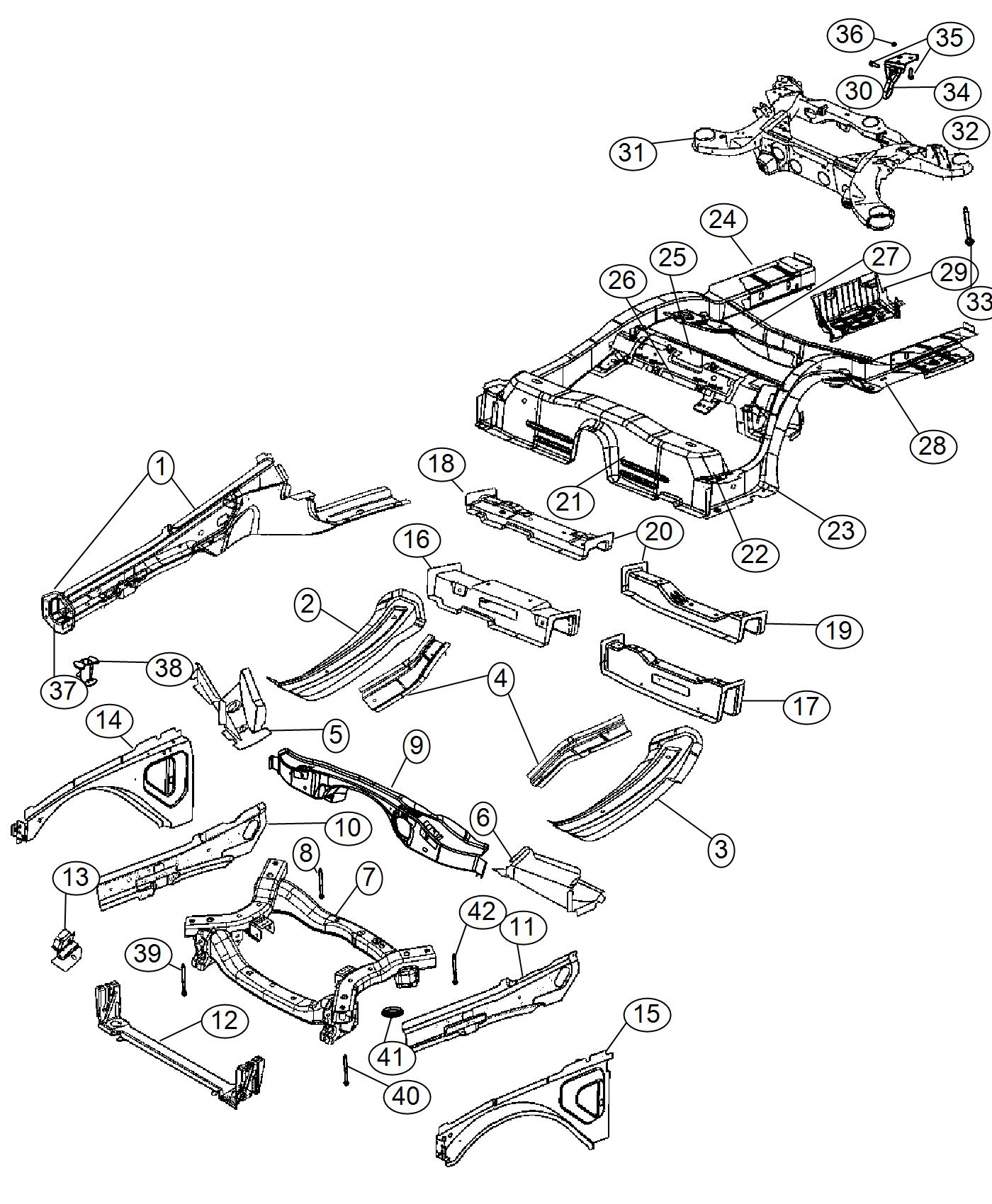 2017 Dodge Charger Subframe. Rear Axle. [ezh]. Complete