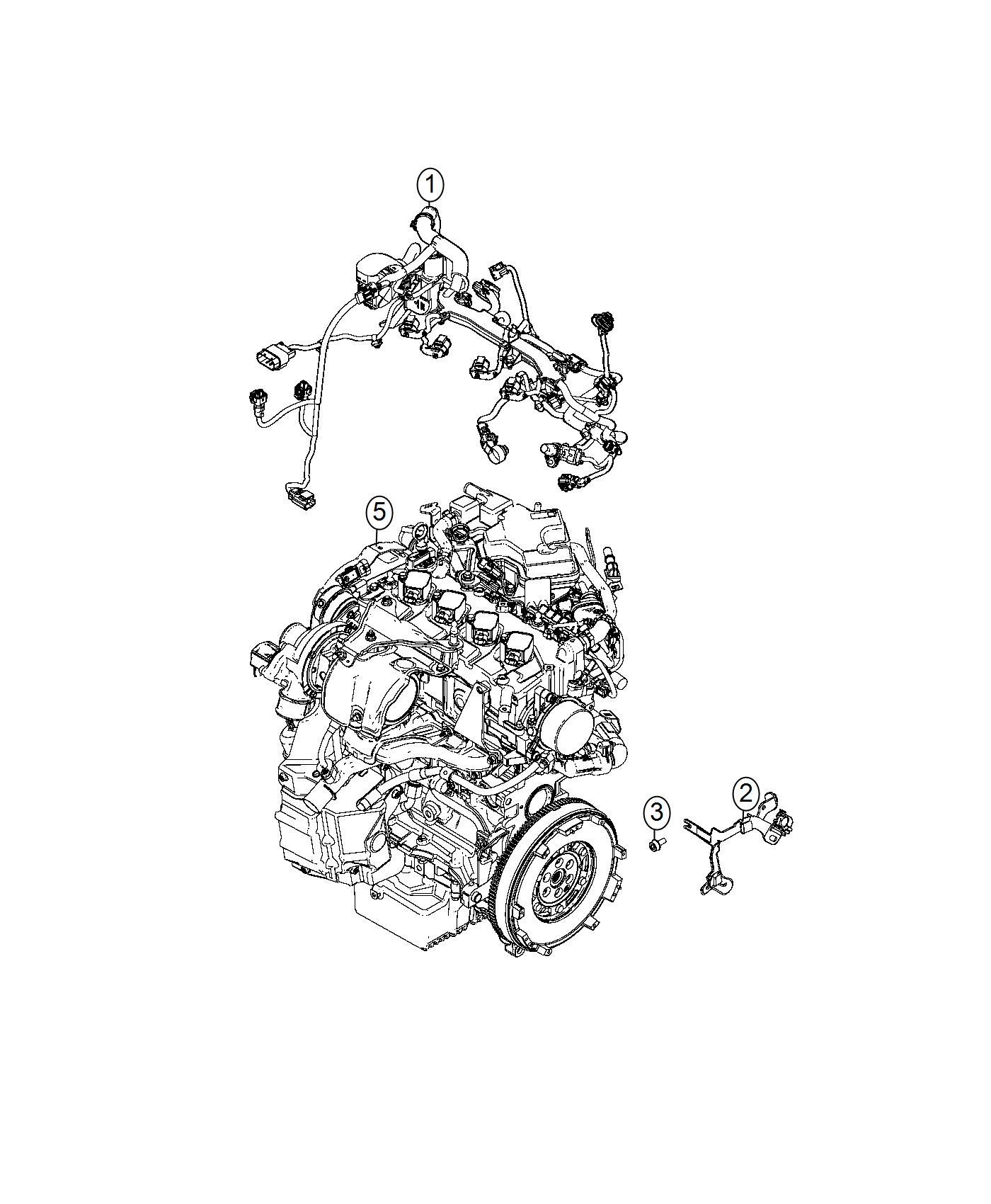 Fiat SPIDER Bracket. Wiring harness. Mopar, engine ...