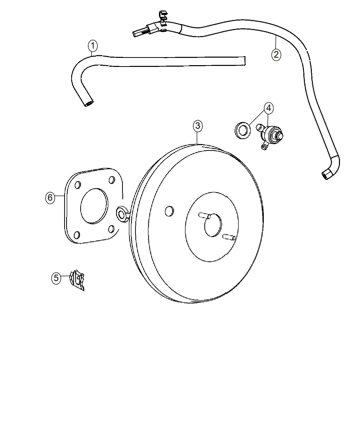 Jeep Compass Hose  Brake Booster Vacuum  Maintenance