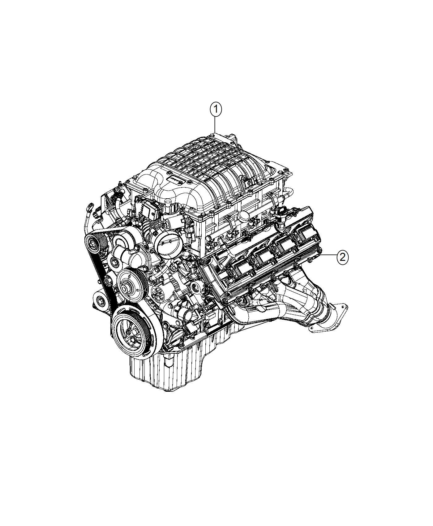 Dodge Challenger Engine  Long Block