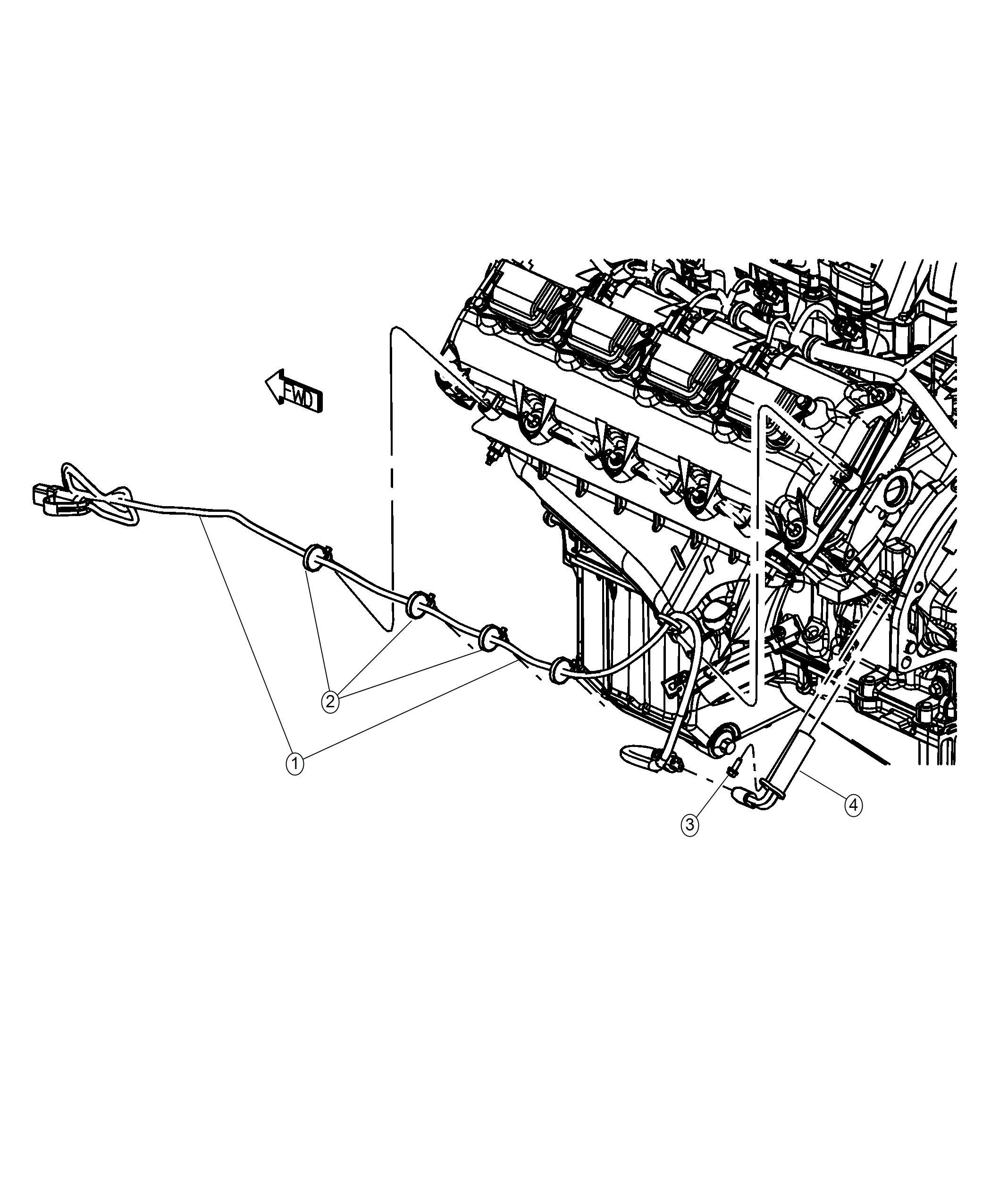 2017 Dodge Challenger Cord  Engine Block Heater   Engine