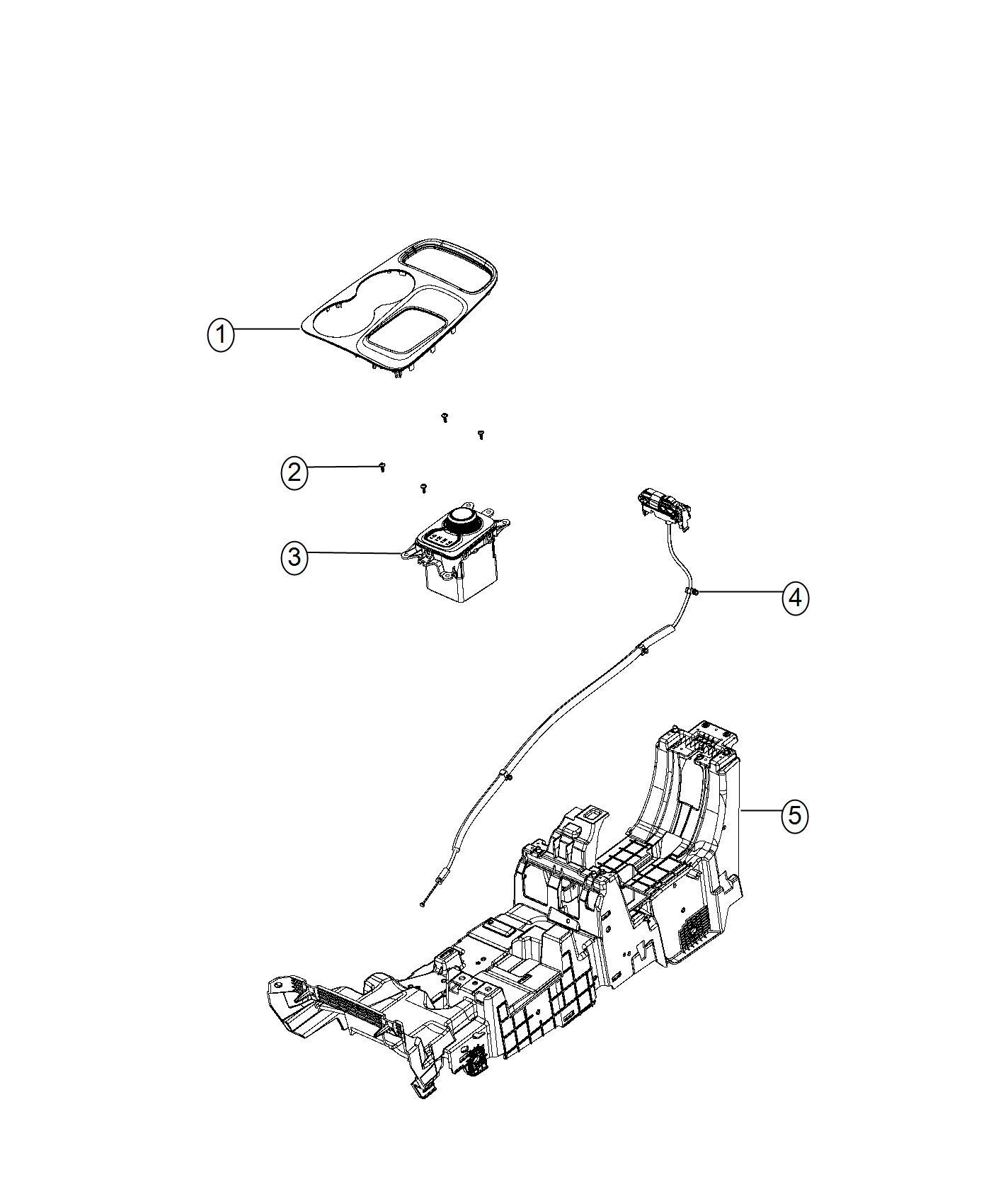2017 dodge durango bezel  gear shift indicator  trim   no