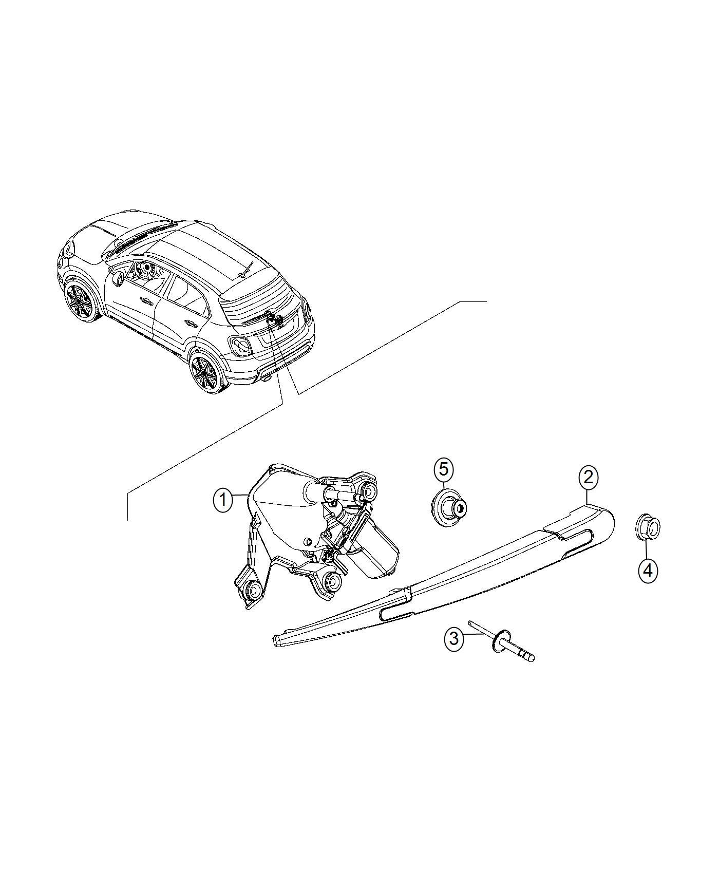 Fiat 500x Grommet  Glass  Export  System  Wiper