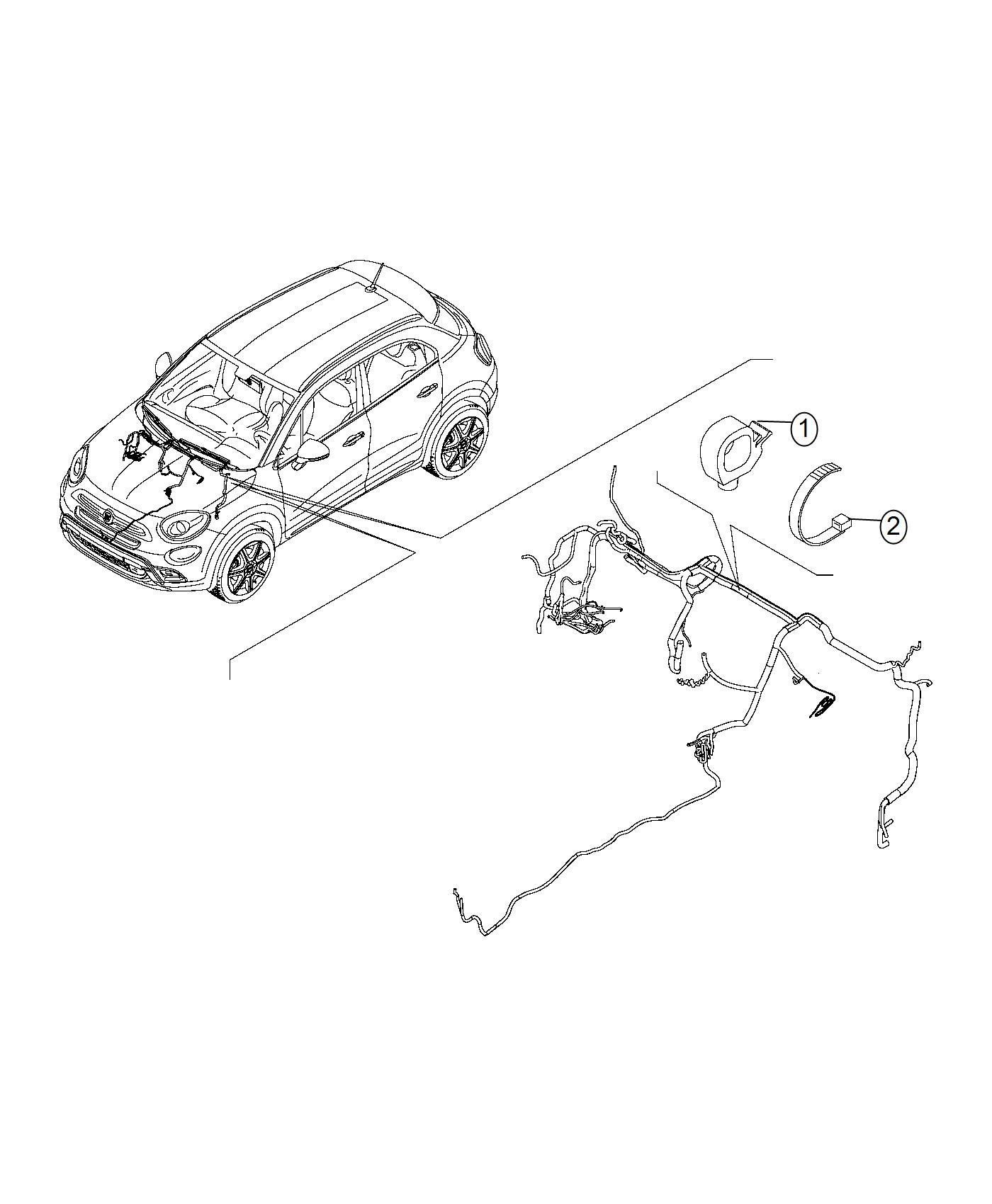 Fiat 500x Clip  Wiring  Export  Repair  Retainers  Dash