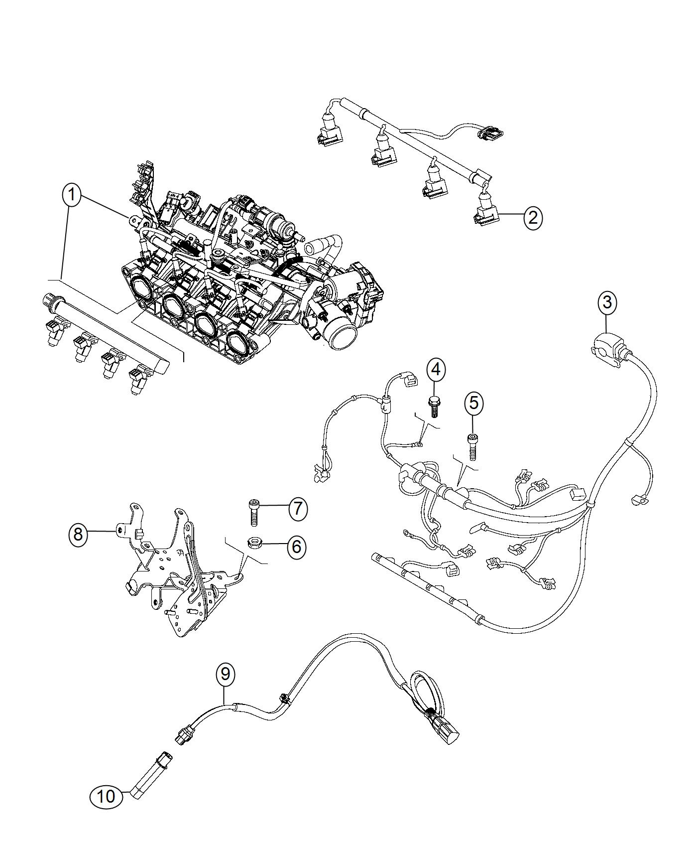 2017 jeep renegade wiring  engine  export