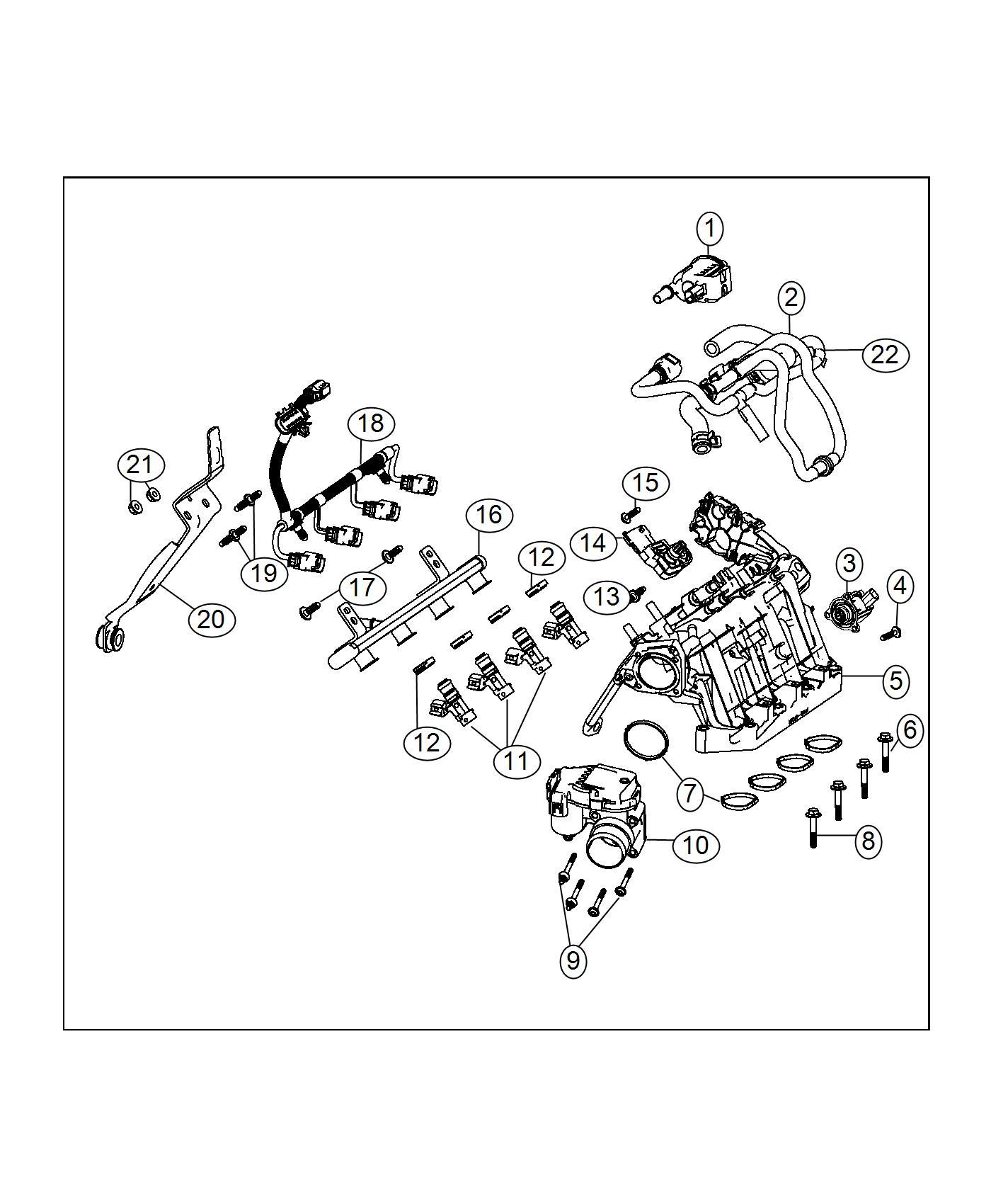 2017 jeep renegade gasket kit  intake manifold  export   6