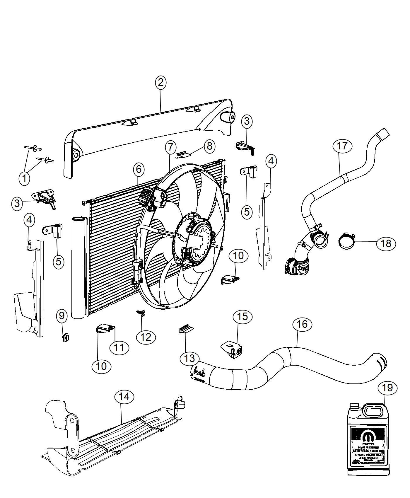 2013 Fiat 500 Hose  Radiator Outlet  Cooling  Maintenance