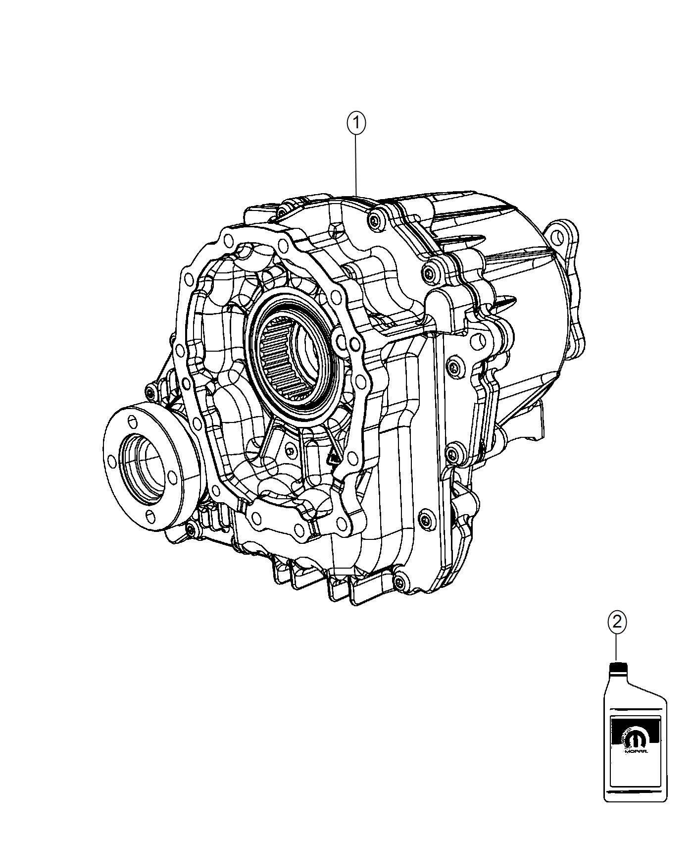 dodge challenger transfer case  bw 44-40  active  axle  disconnect