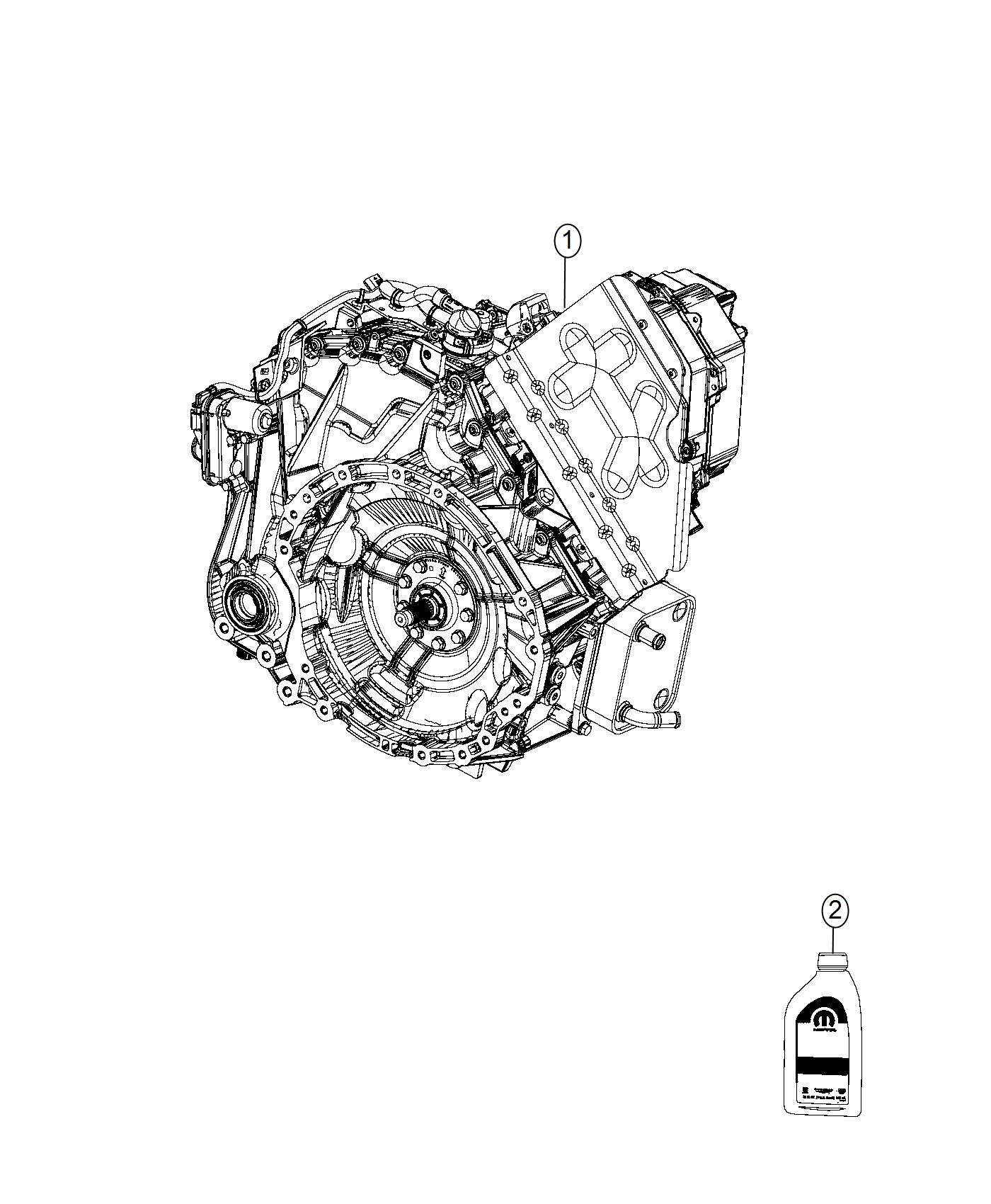 Diagram Transmission / Transaxle Assembly. for your 2018 Chrysler Pacifica LX
