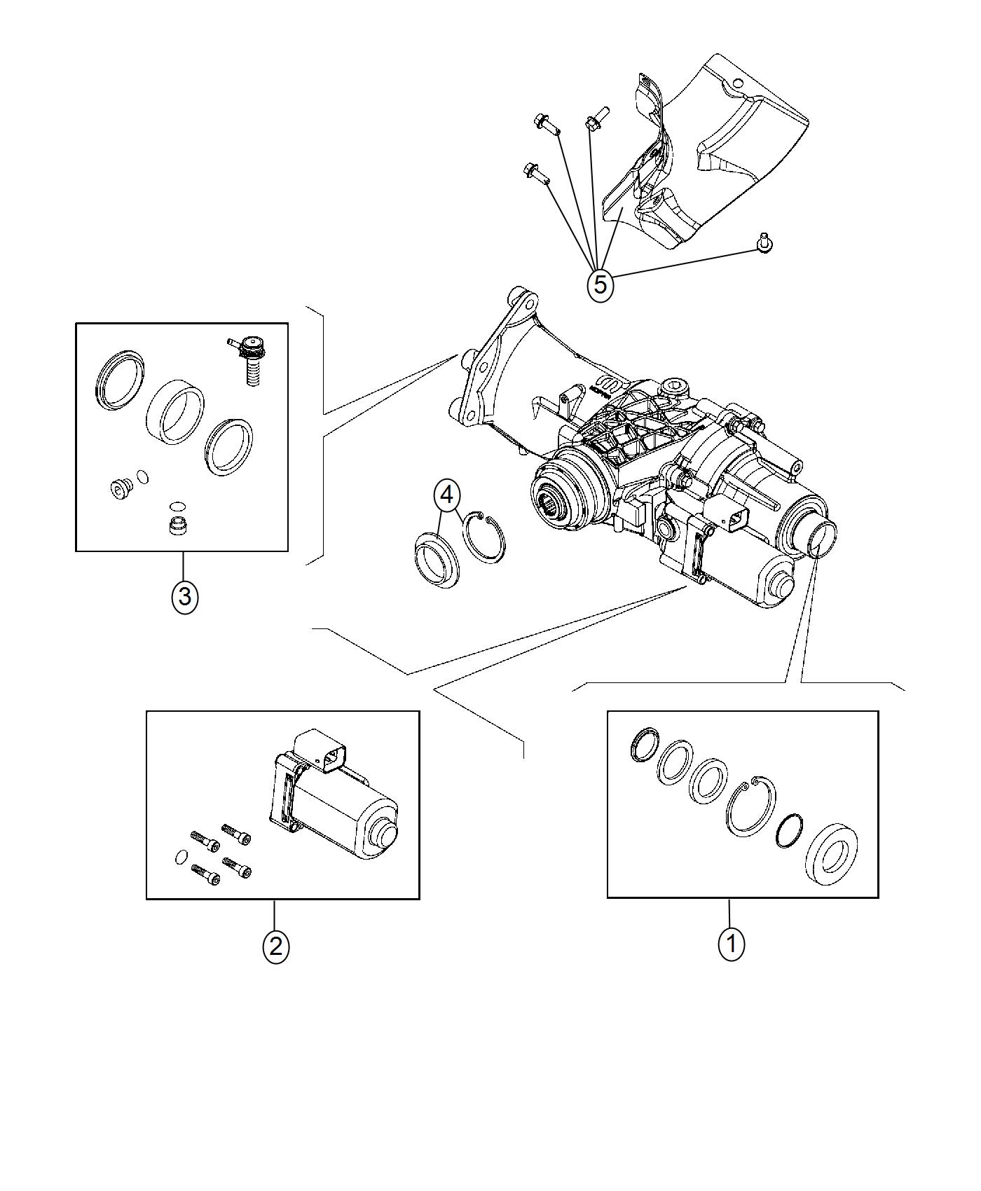 2016 jeep renegade seal kit  power transfer unit