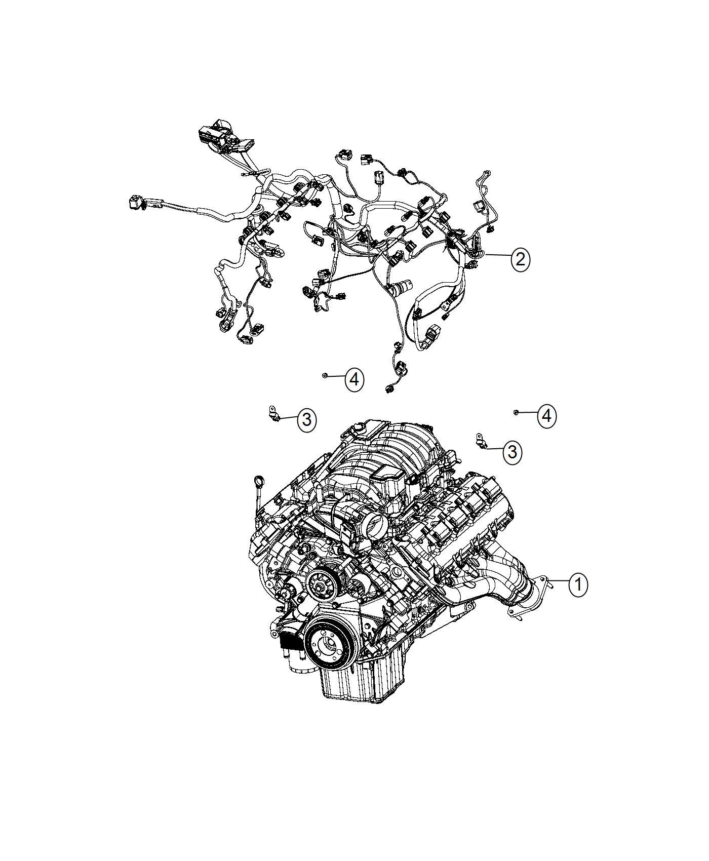 2017 dodge challenger wiring  engine  powertrain  mopar  electrical