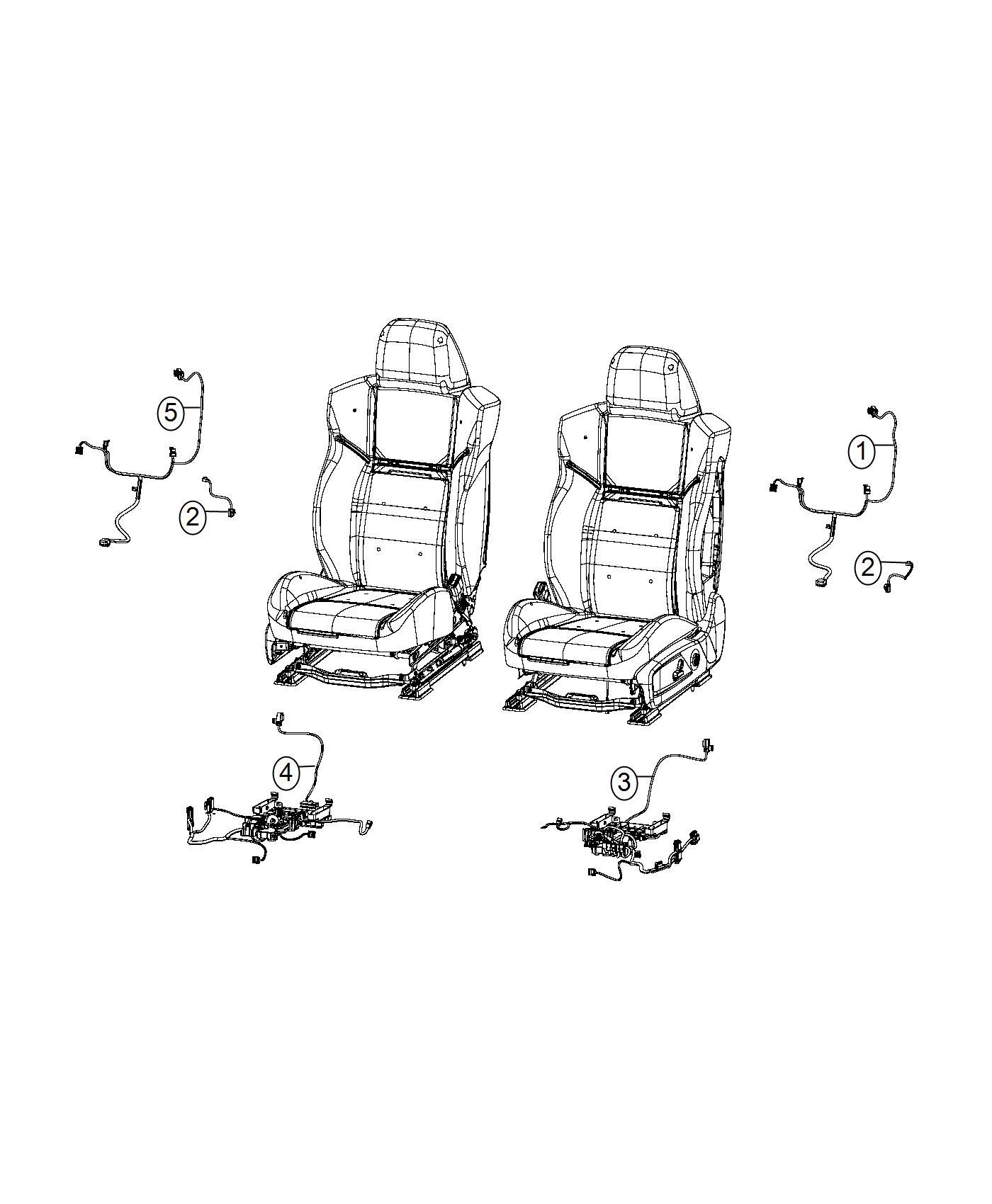 2017 Dodge Charger Wiring  Seat Cushion  Passenger  Trim