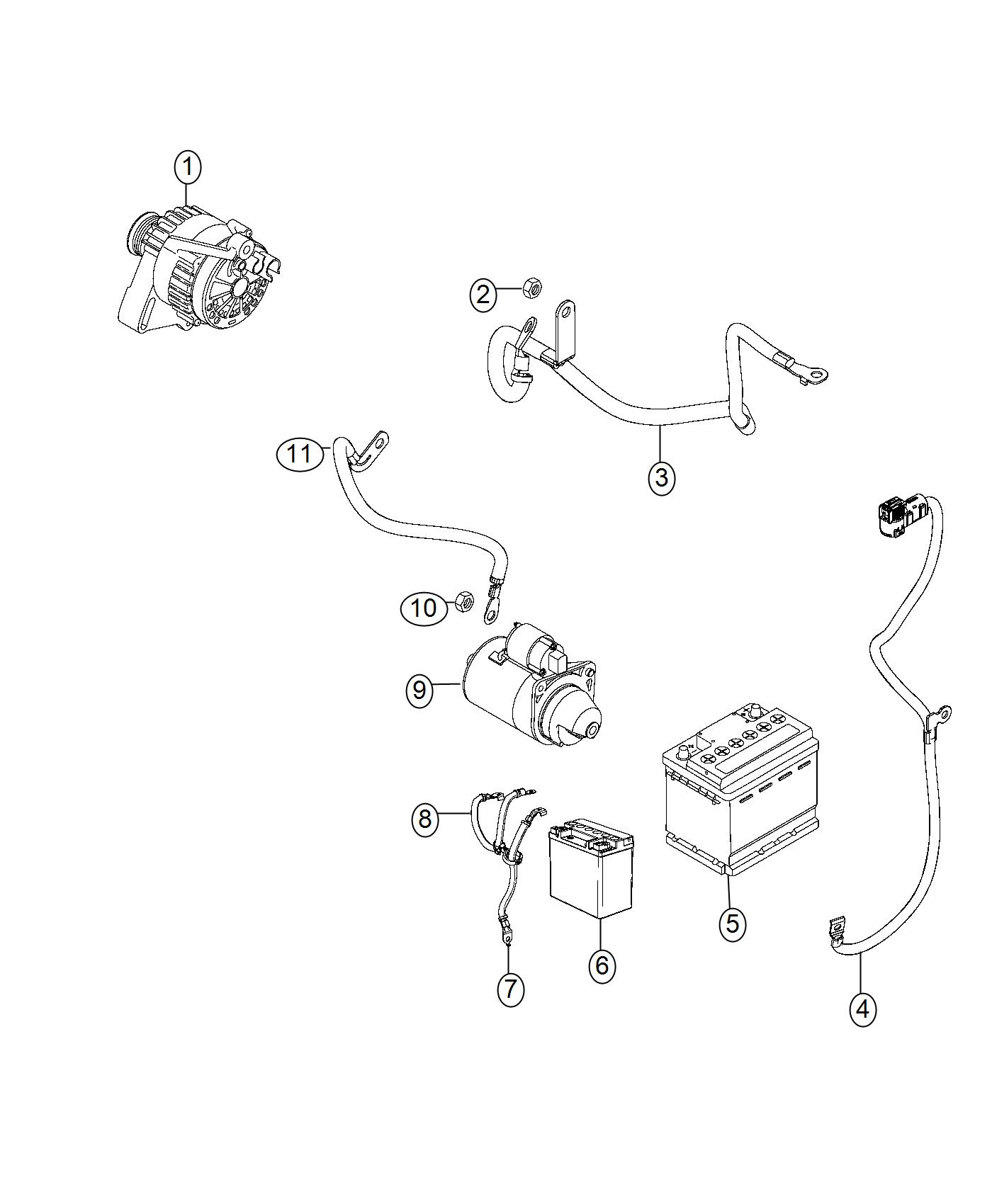 2017 Jeep Renegade Wiring  Battery Negative   Tow Hooks