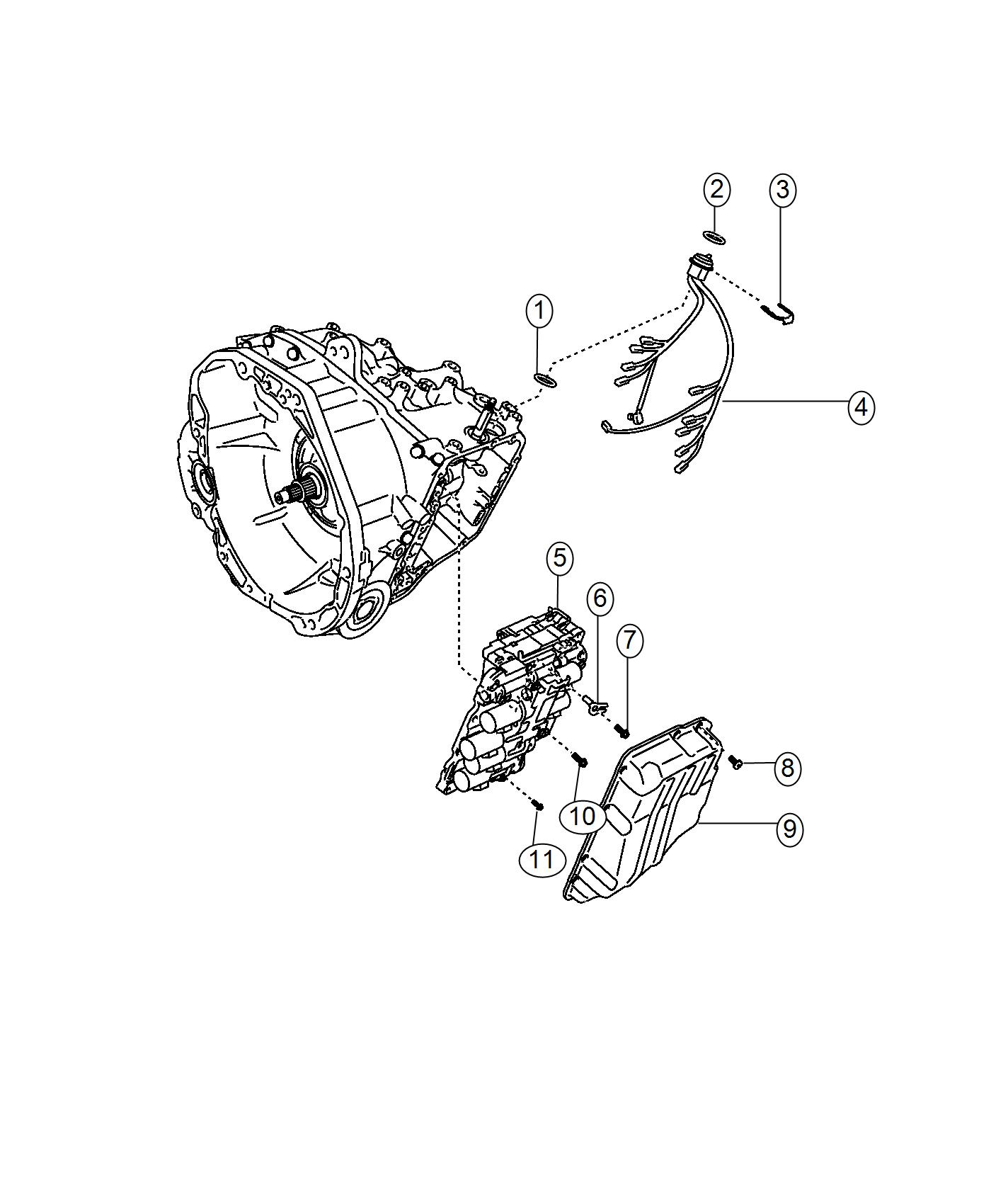 jeep renegade gasket  for the seal wire harness  transmission