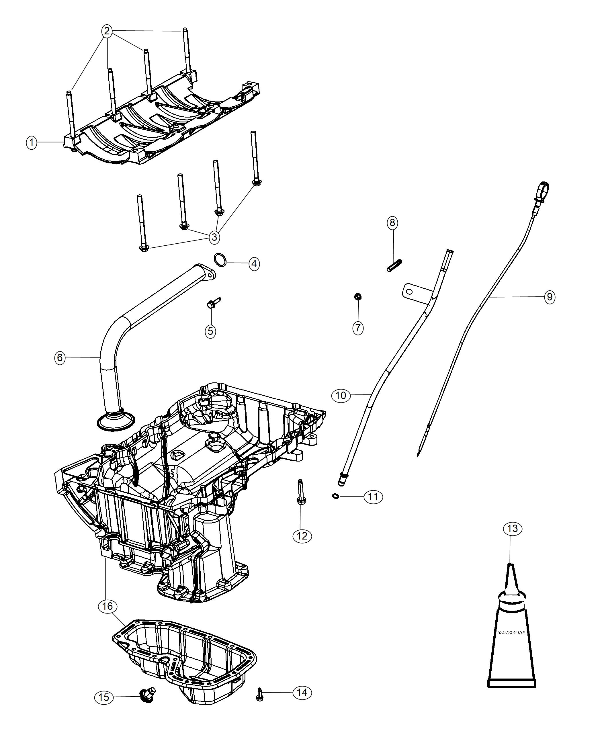 Dodge Challenger Indicator  Engine Oil Level  Pan  Related