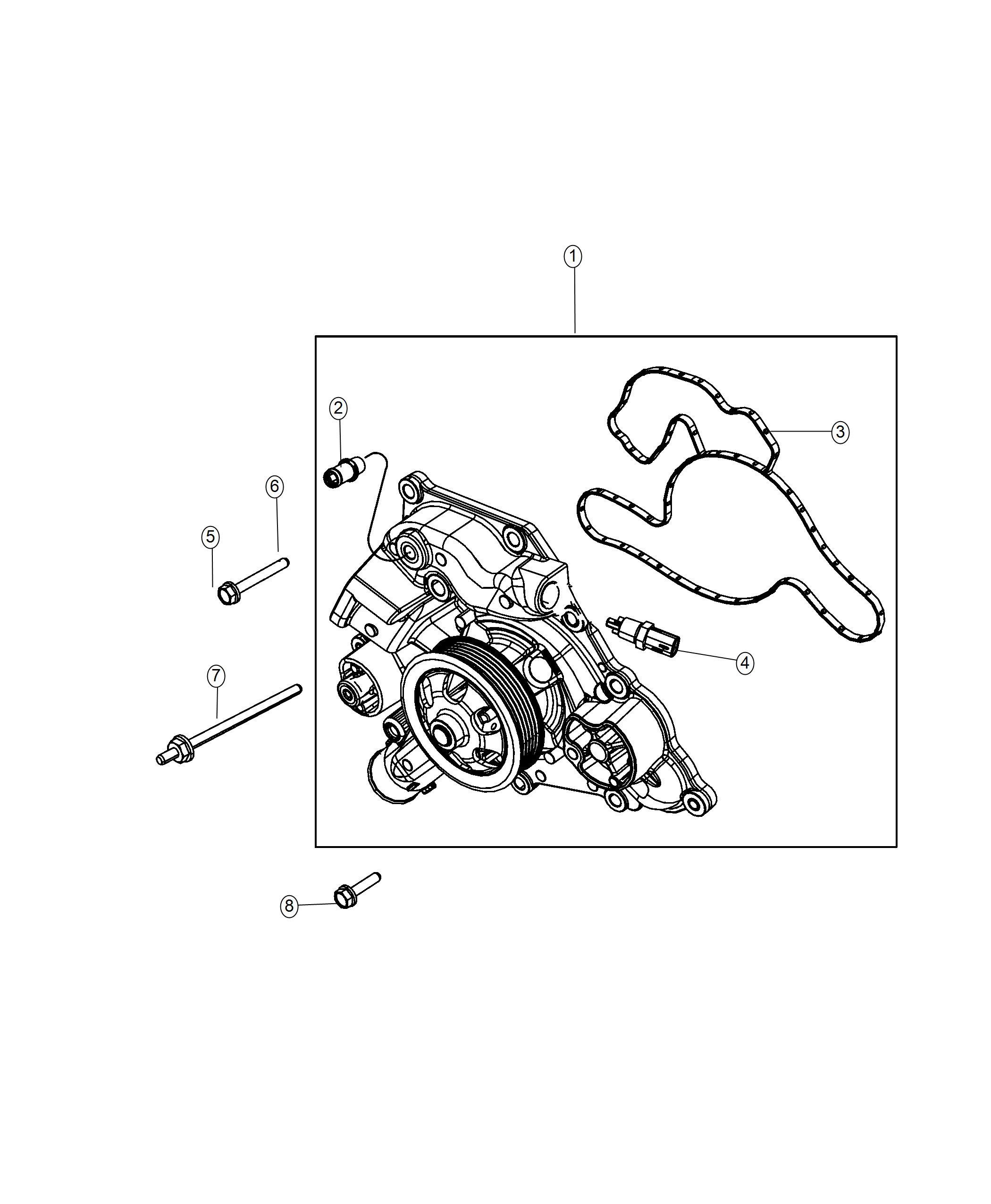 jeep grand cherokee gasket  water pump  engine  kits