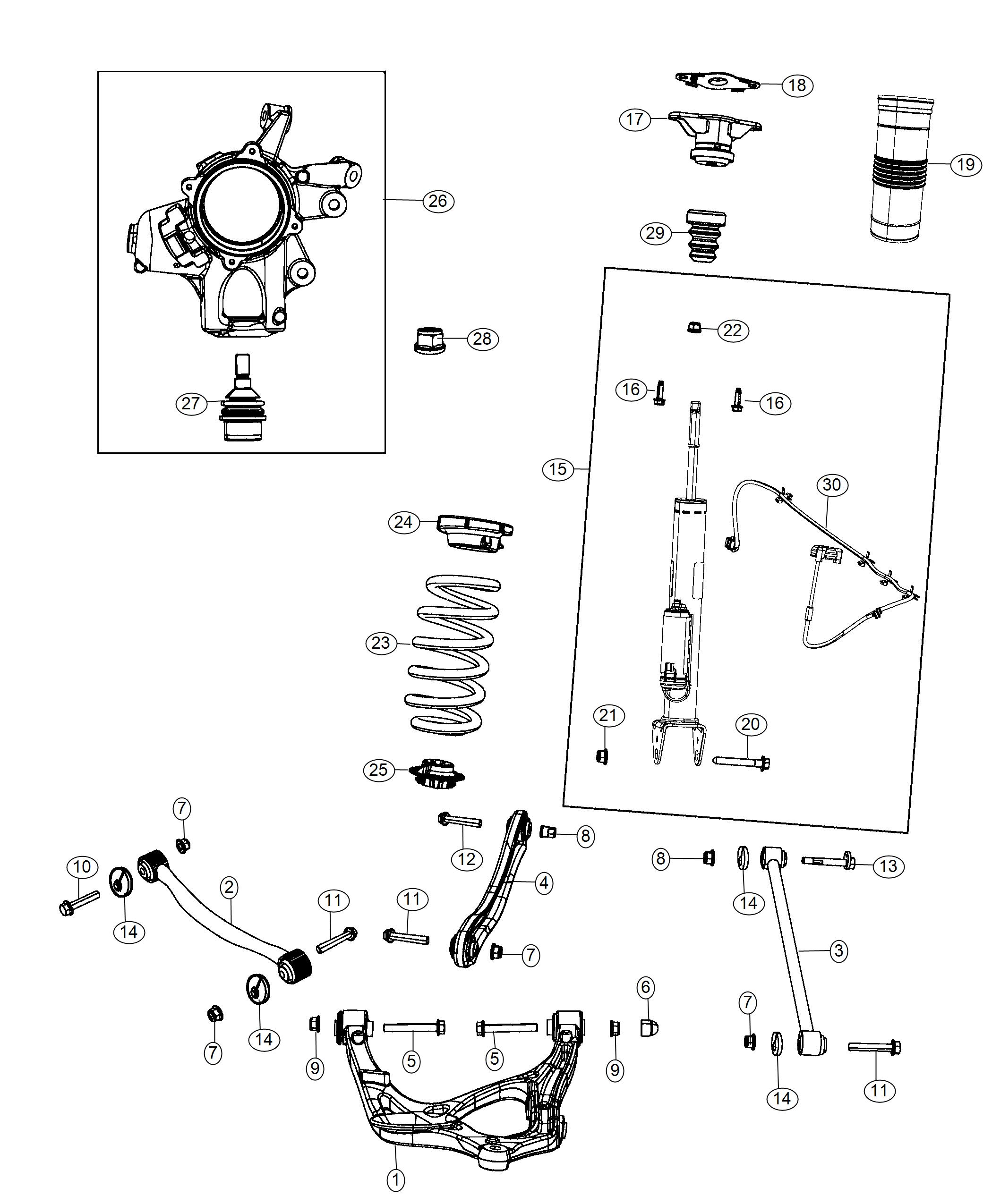 2018       Jeep       Grand       Cherokee    Shock absorber kit Suspension