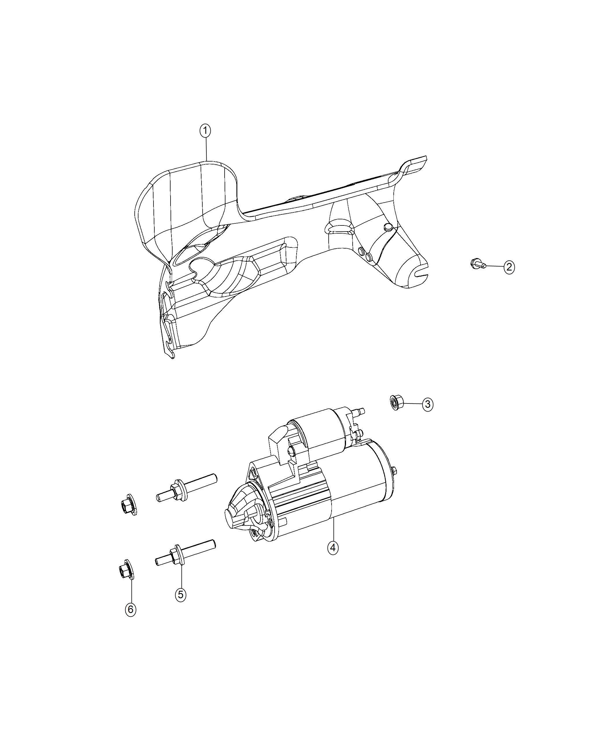 2018 Jeep Grand Cherokee Starter  Engine  Hemi  Related  Mds