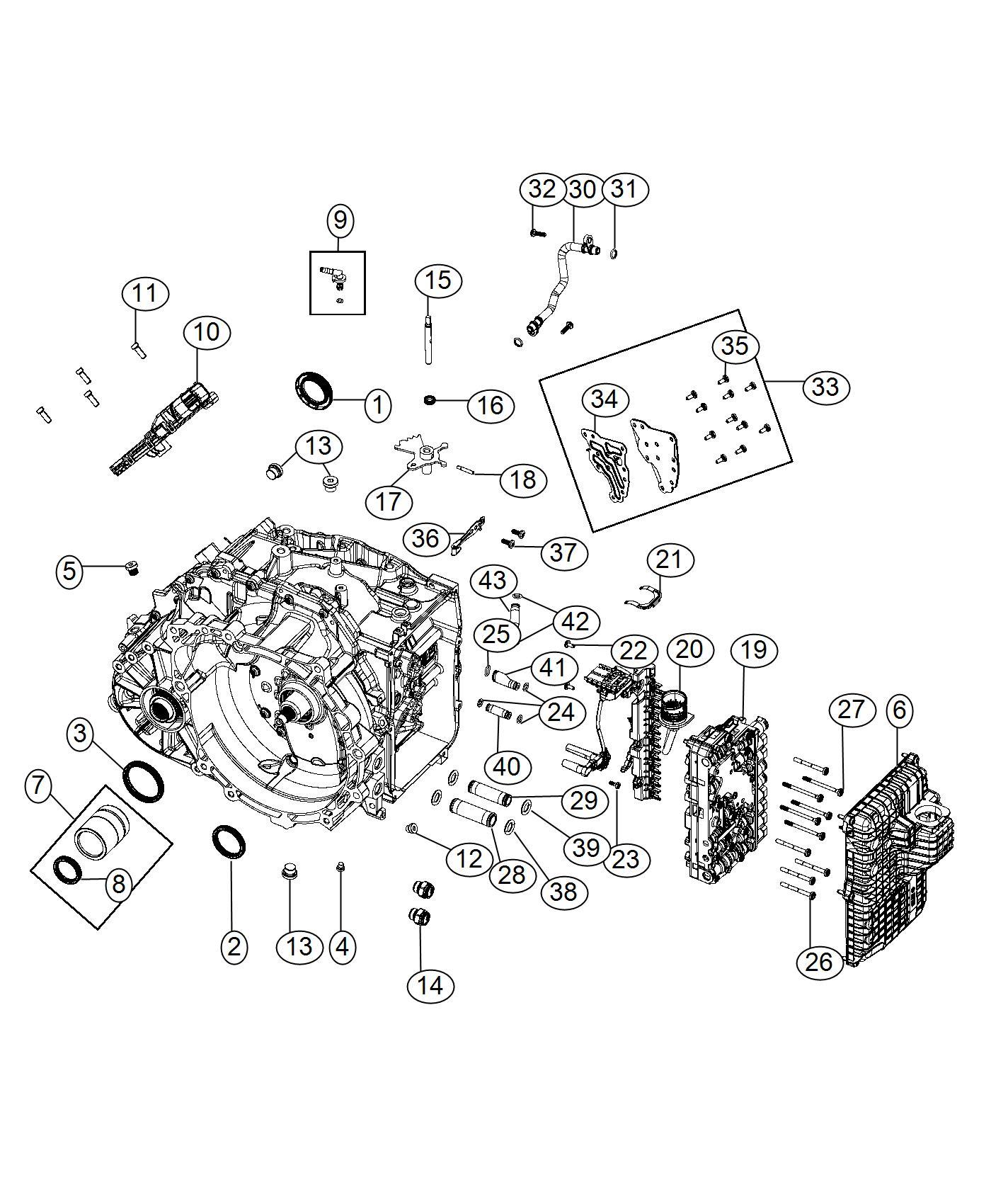 Fiat 500x Valve Body  Complete