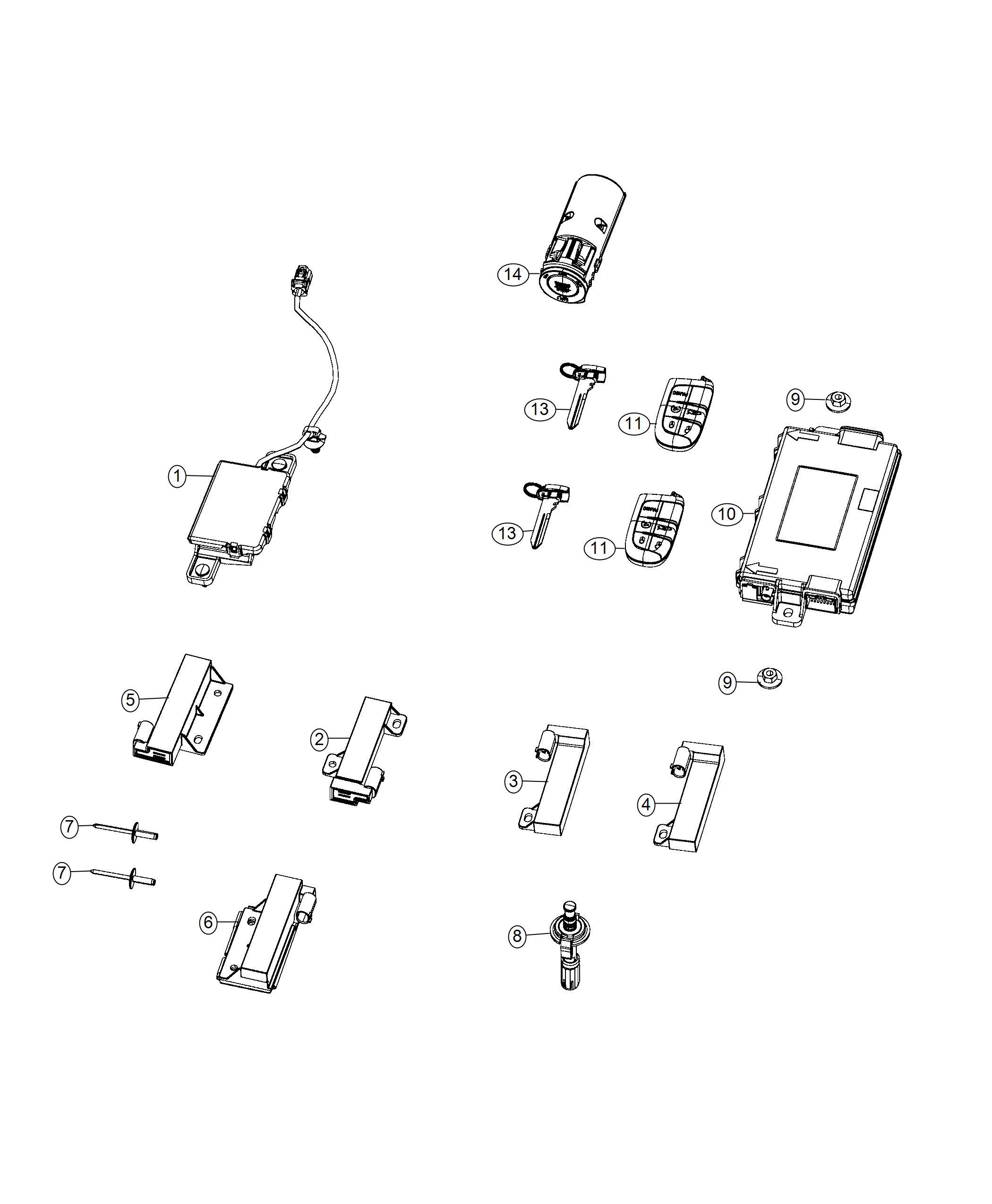 dodge challenger transmitter  integrated key fob   do not use body model