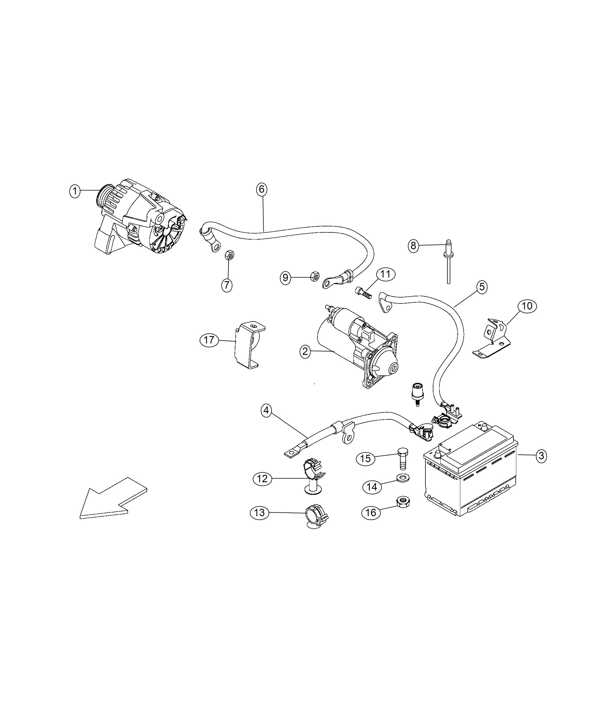 2017 Ram Promaster City Wagon Wiring  Starter  Mopar