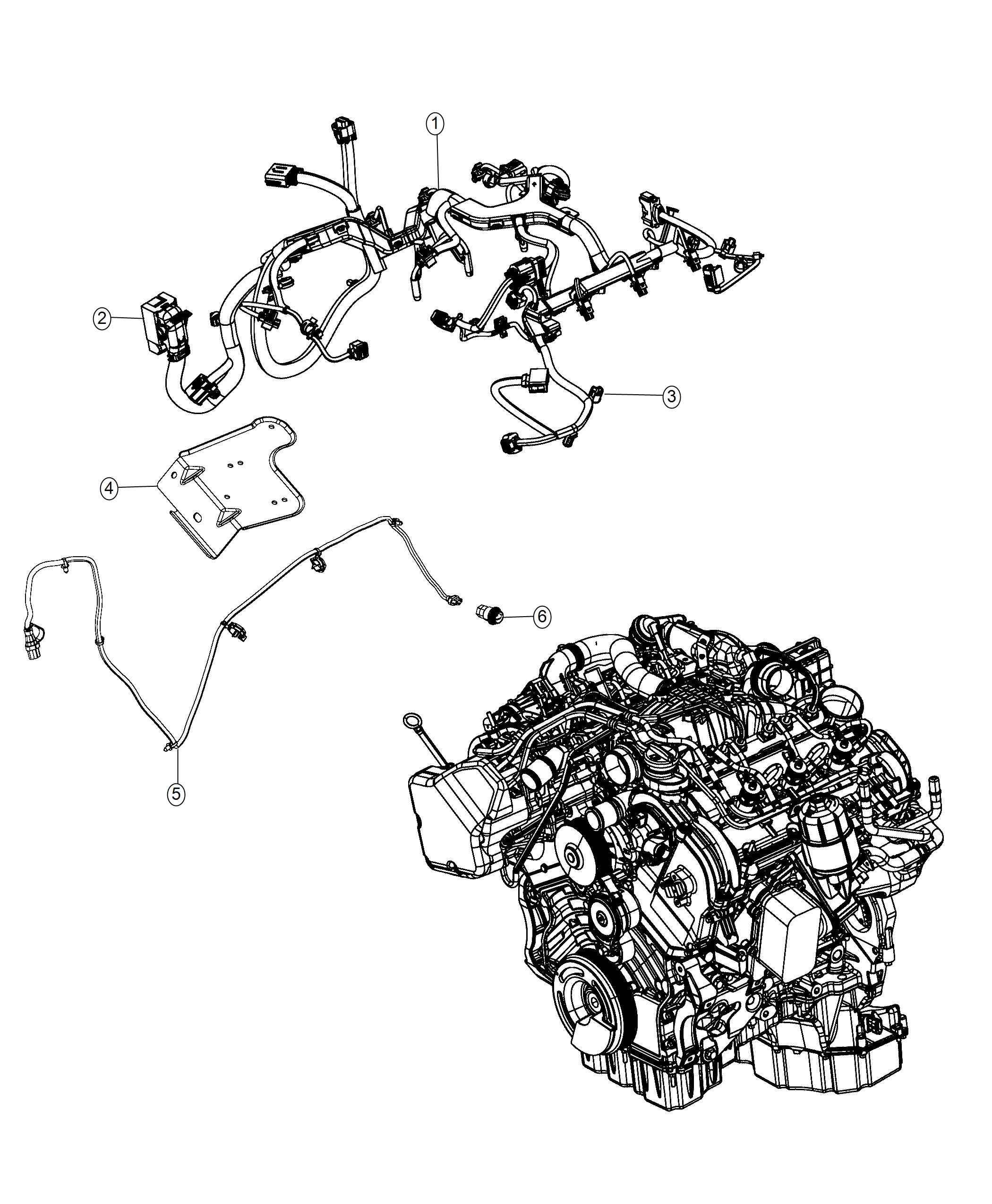 ram 1500 wiring  engine