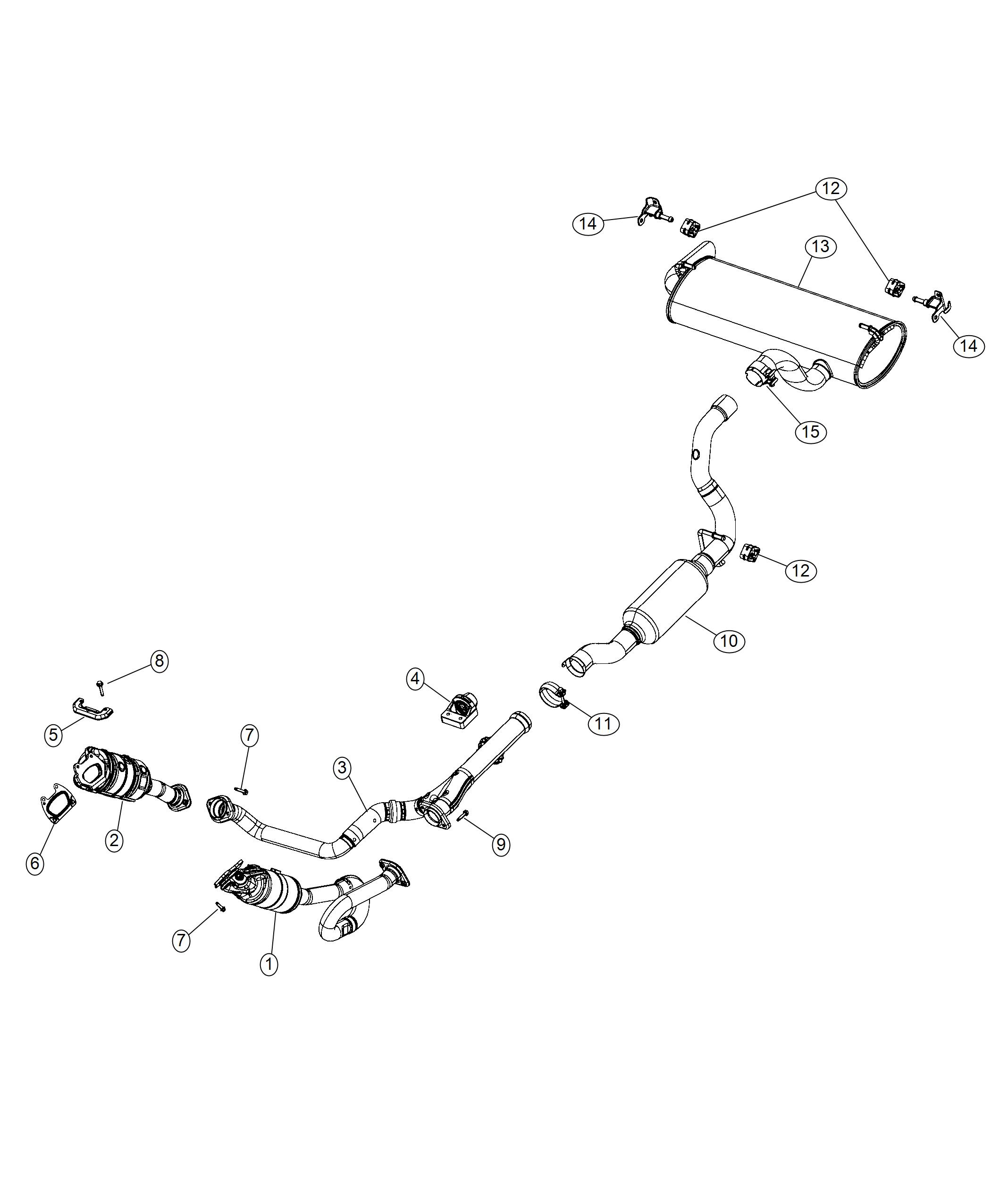 Jeep Wrangler Bracket  Exhaust Hanger  Right