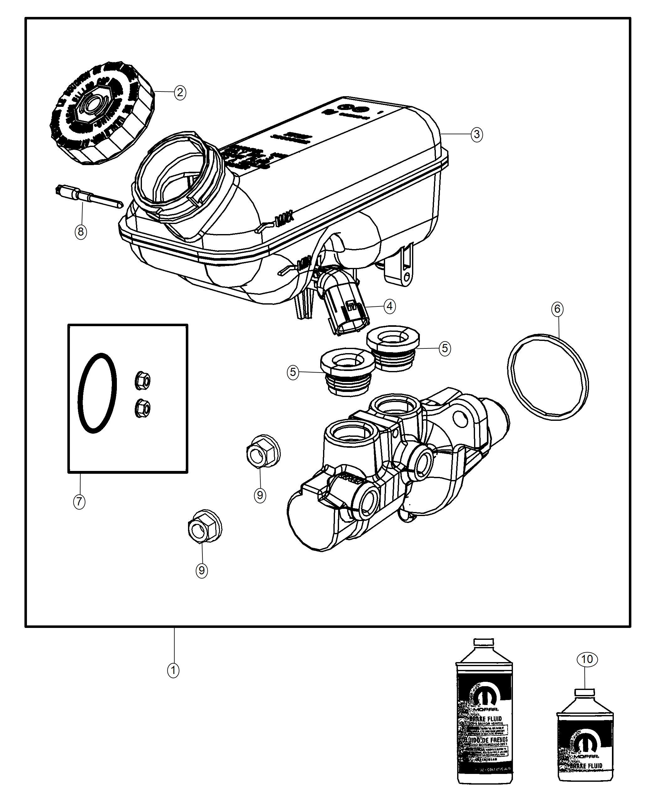 1999 Dodge Grand Caravan Brake Diagram